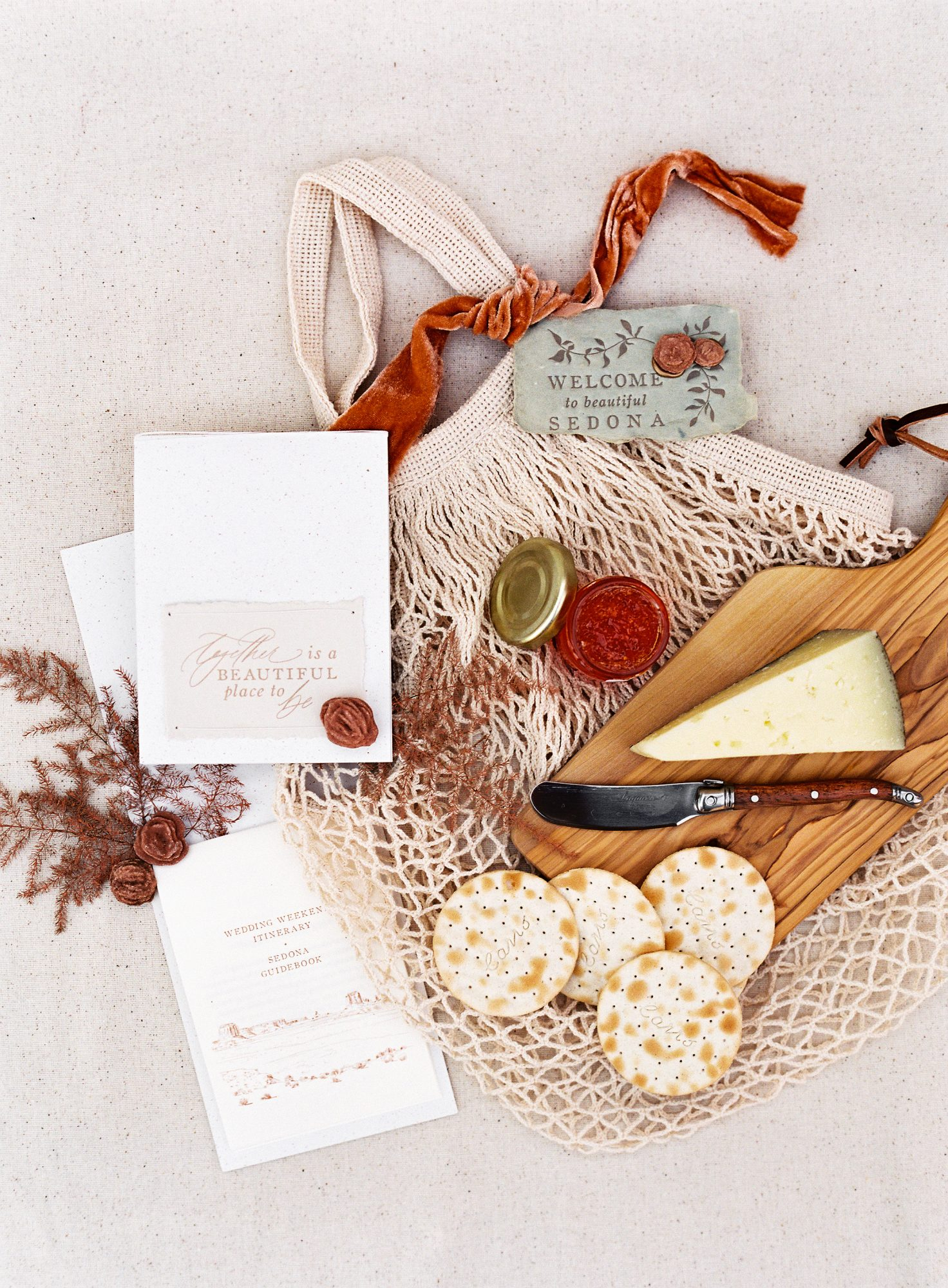 stefanie terrel wedding welcome bag