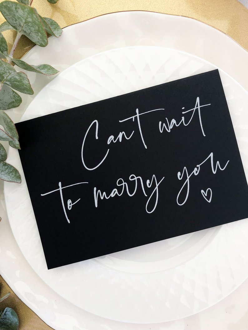 """""""I Cant Wait to Marry You"""" Greeting Card"""