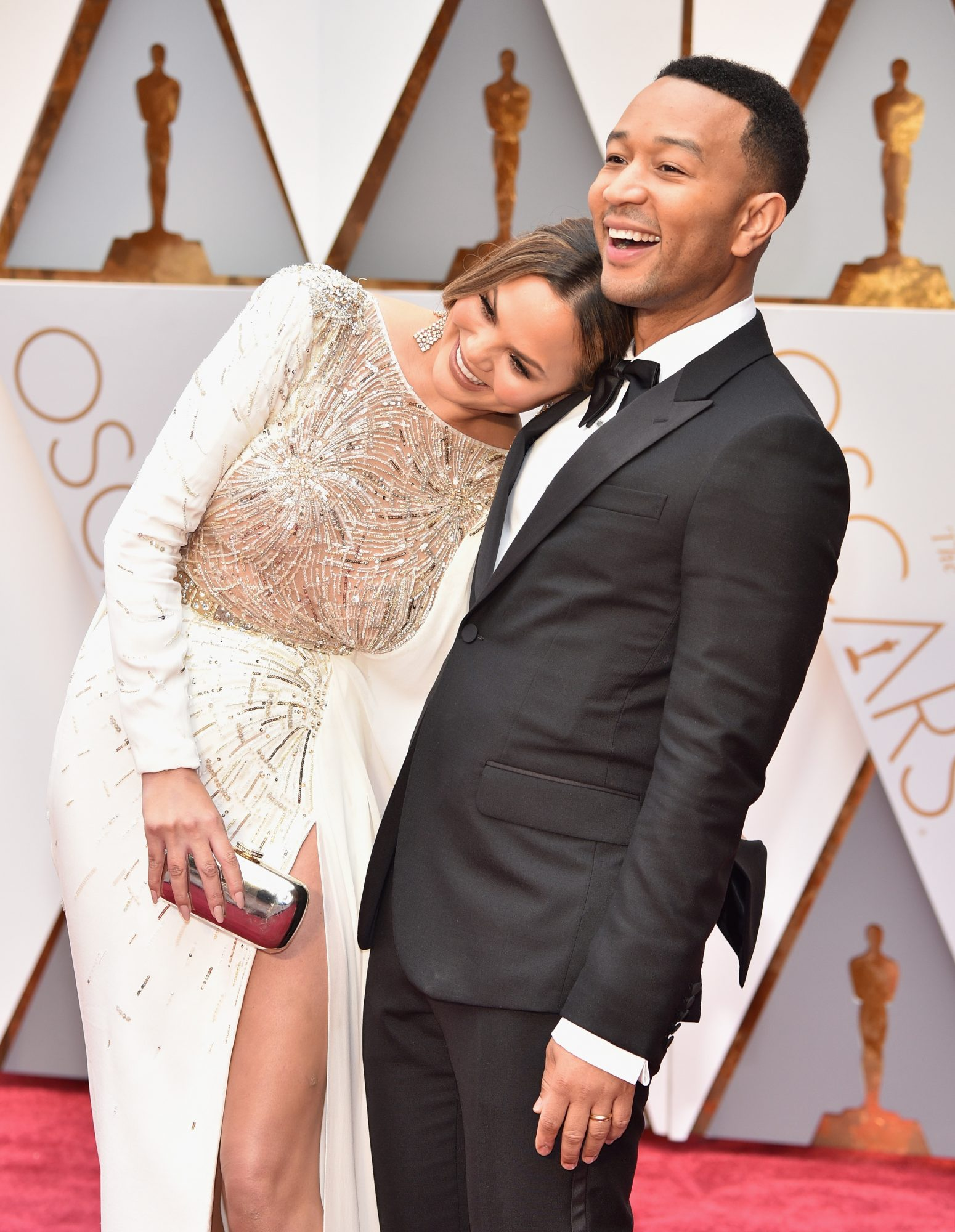 Chrissy Teigen and John Legend 2017 Oscars Red Carpet