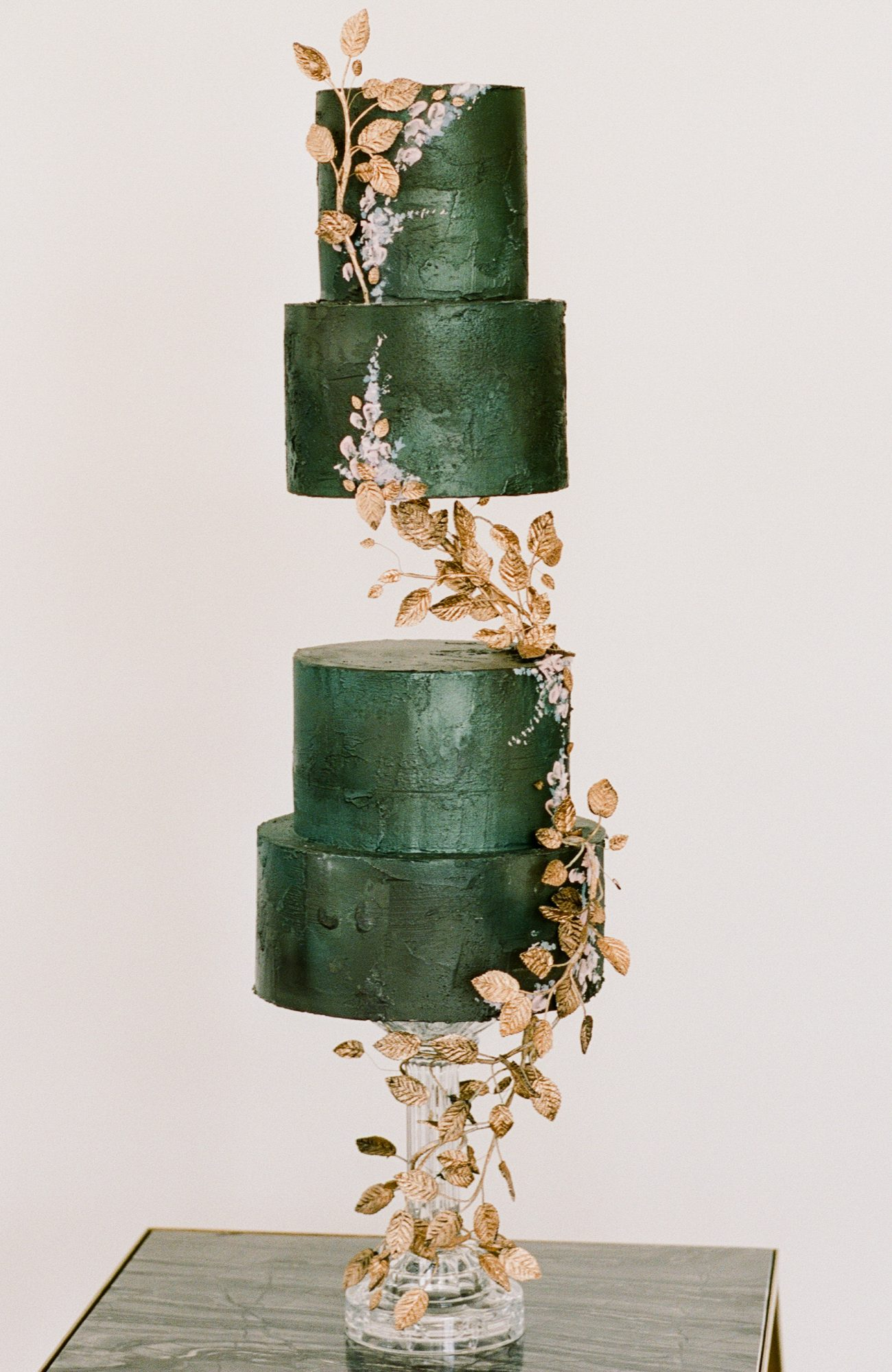 emerald and gold cake