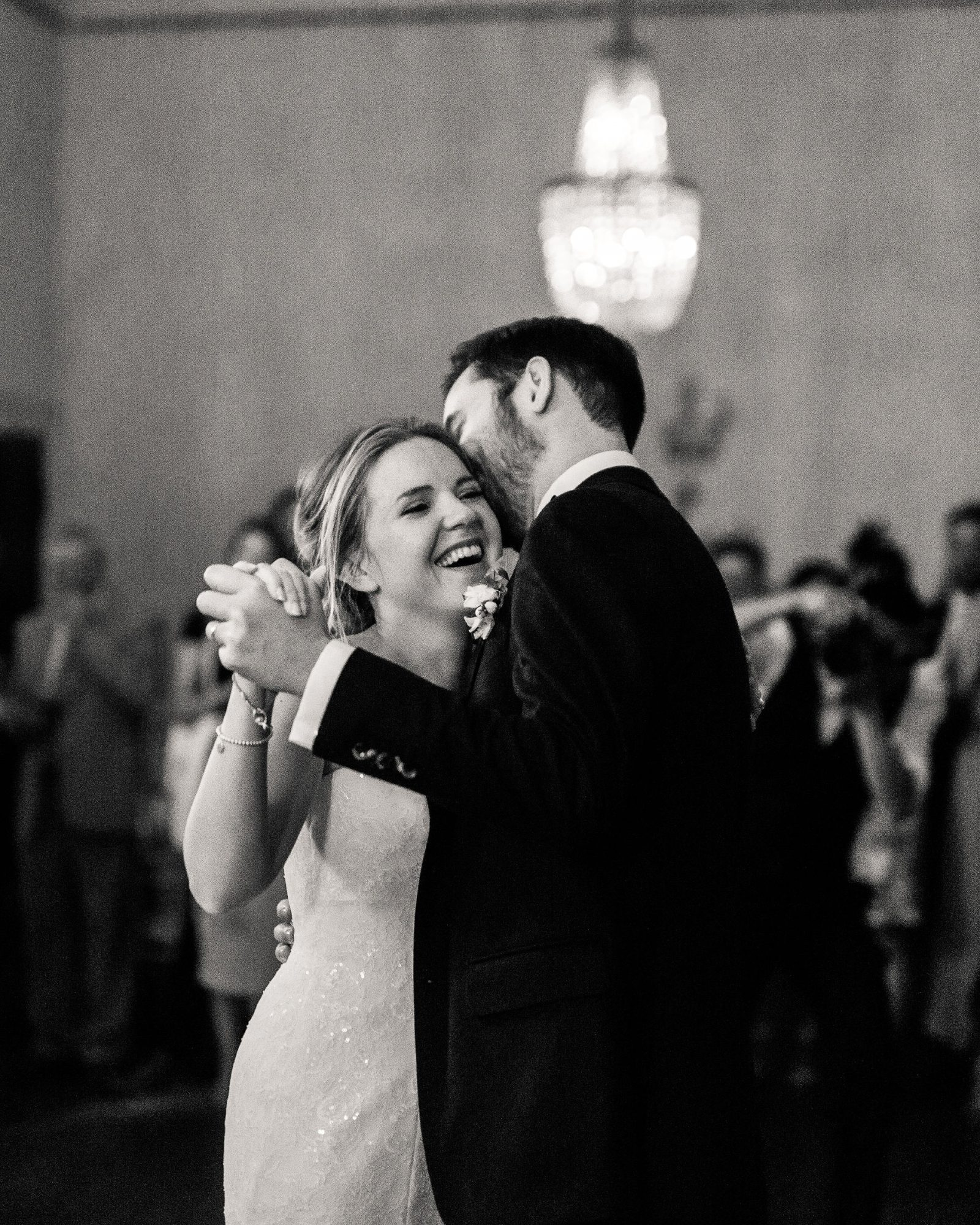 sophie christopher wedding couple first dance in black and white