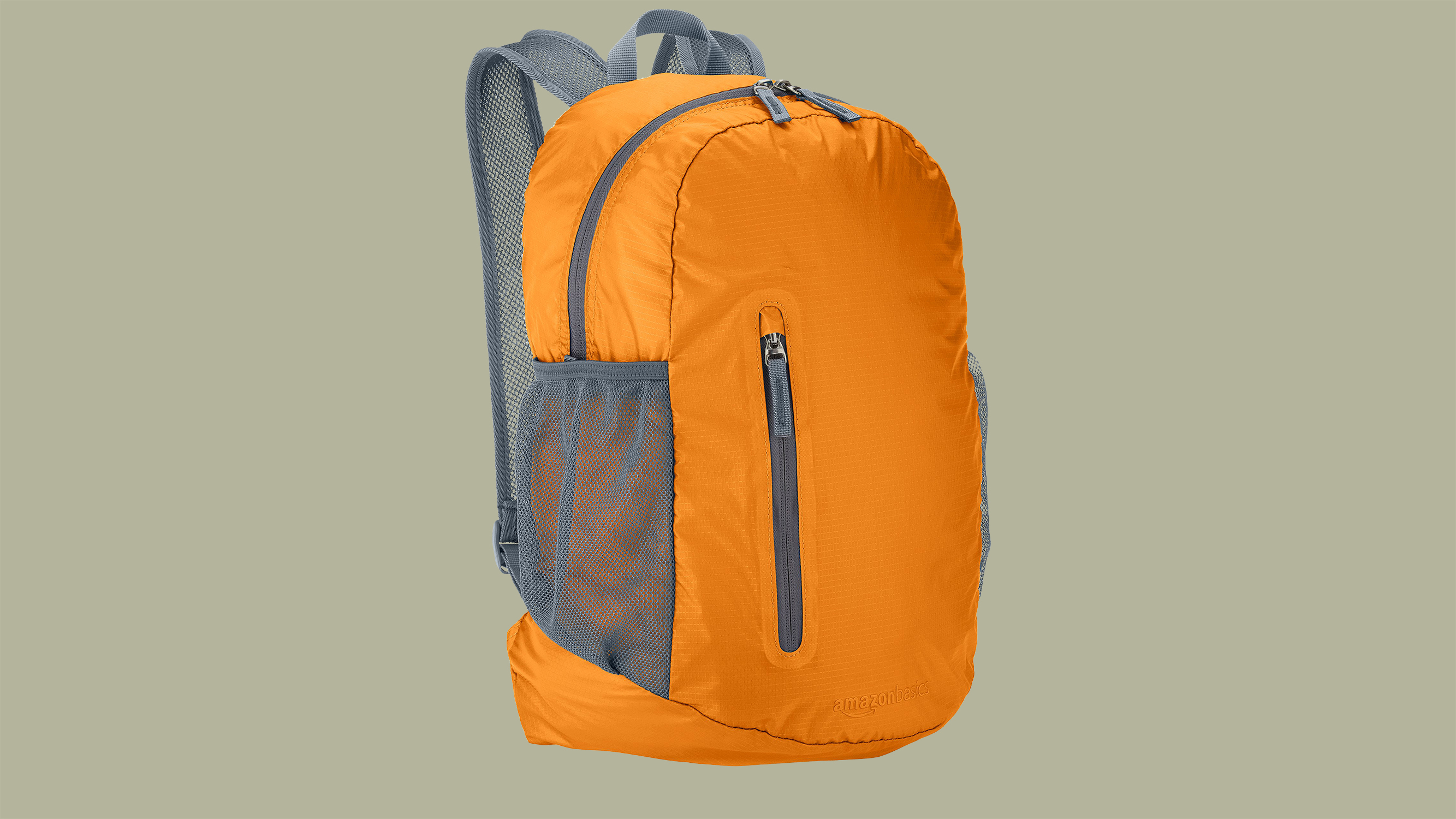 orange and gray camping backpack