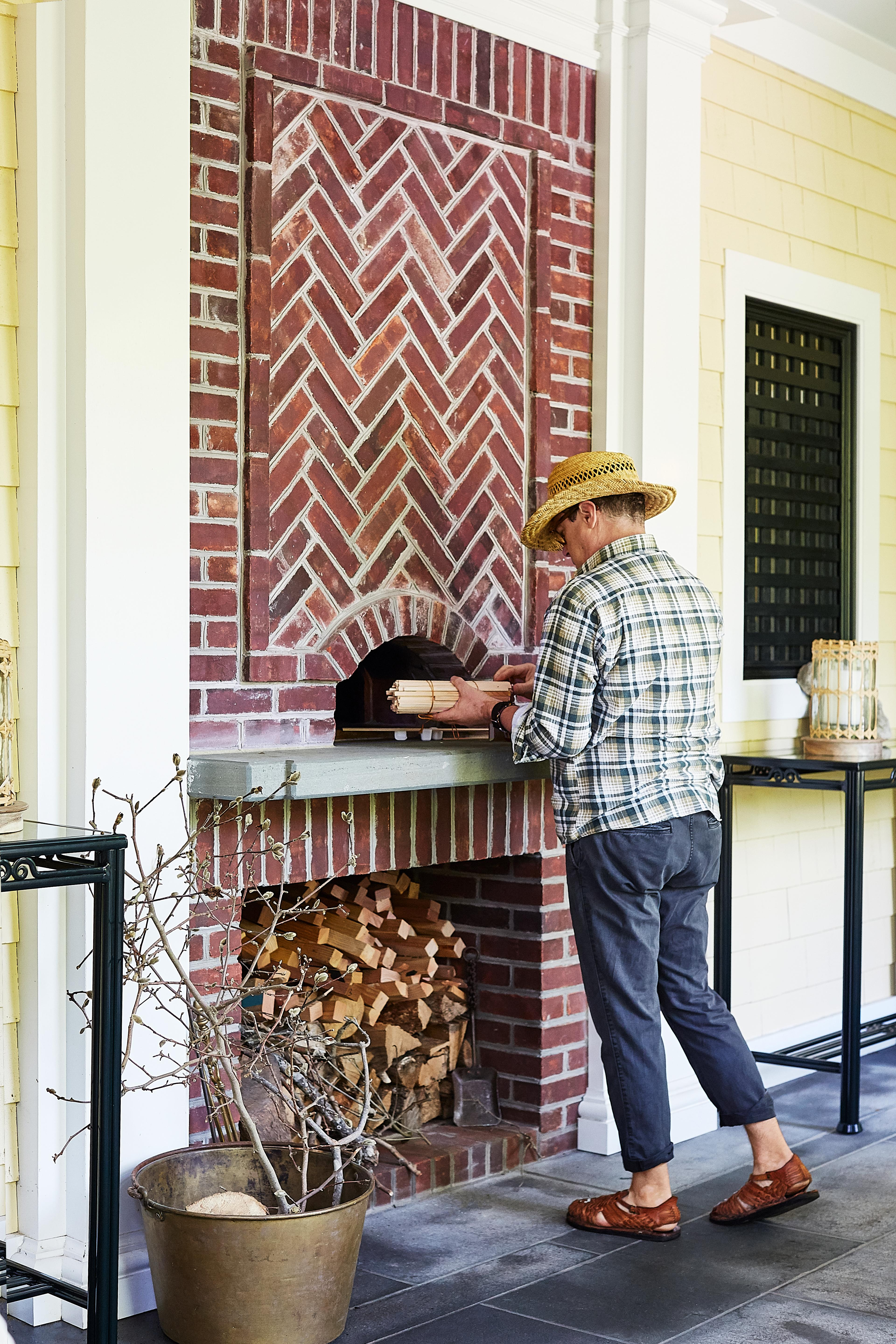 long island home outdoor wood burning oven