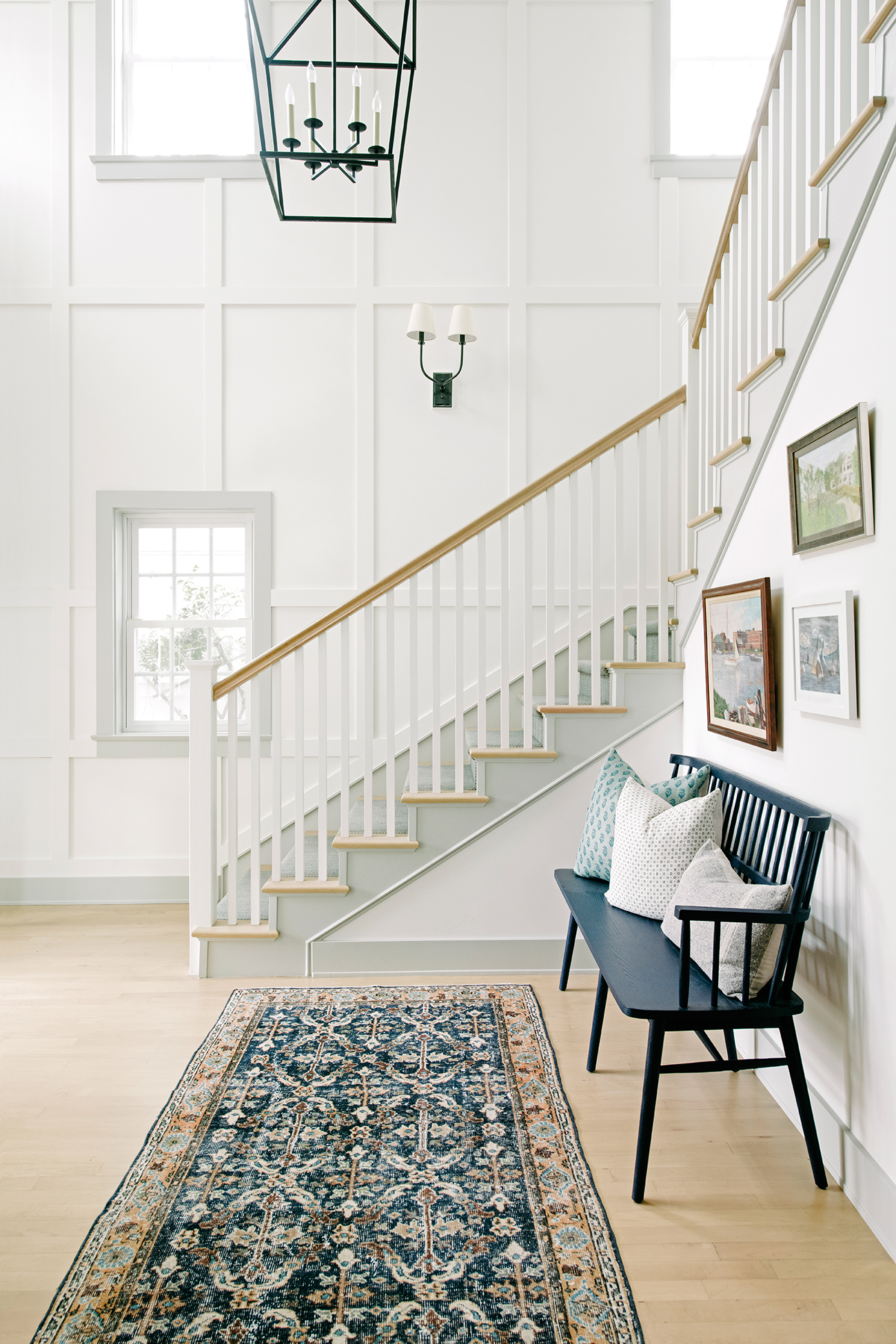 southern california house white stairway and windows
