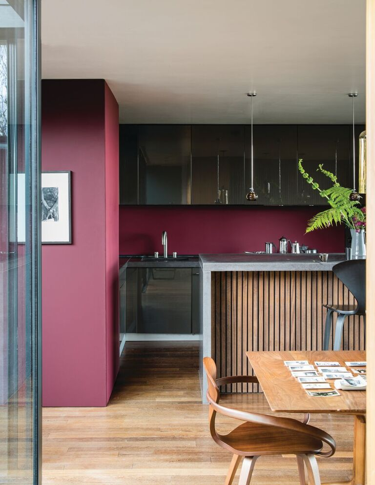 farrow and ball kitchen red paint