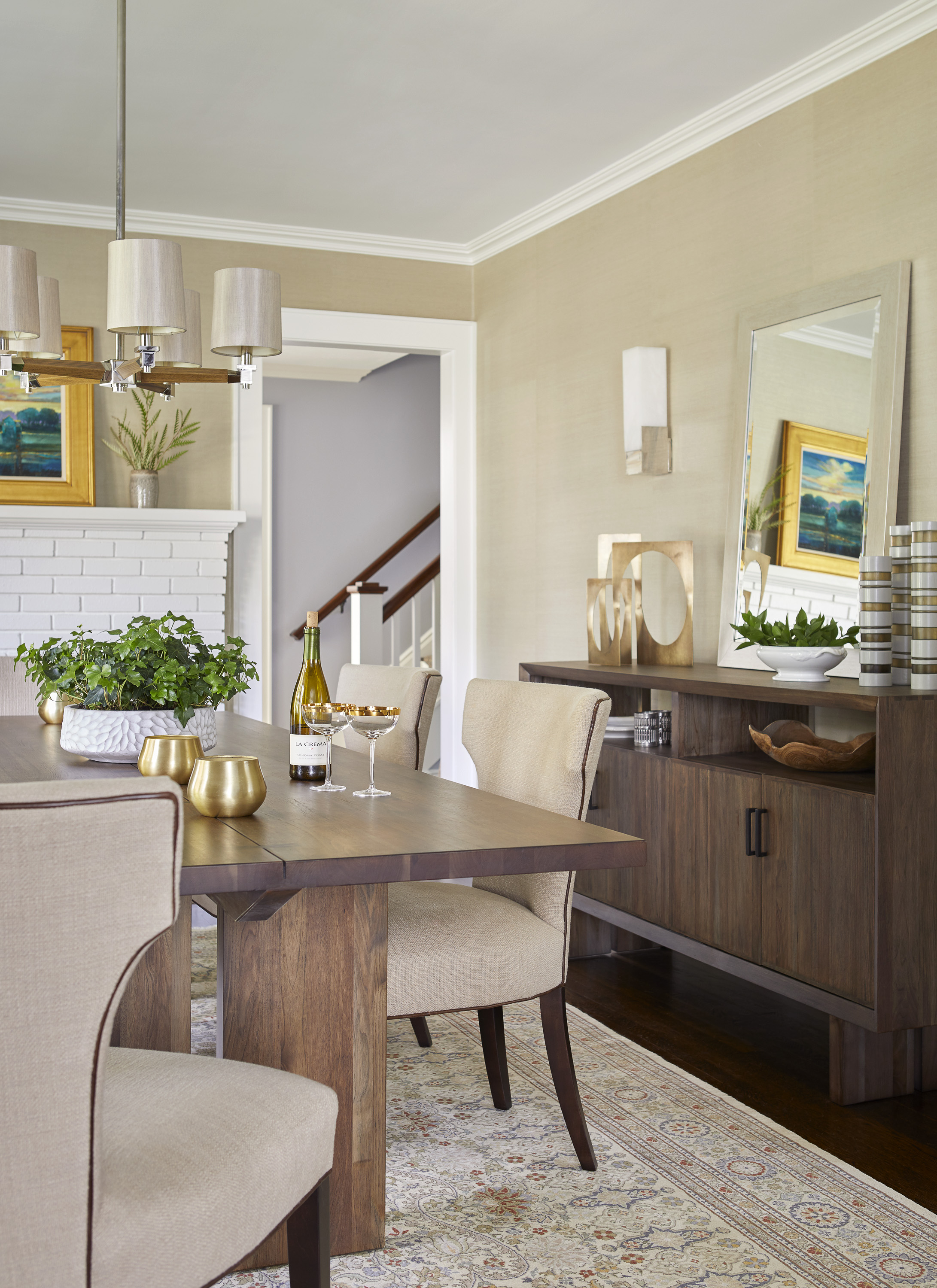 new jersey home tour midcentury modern dining room