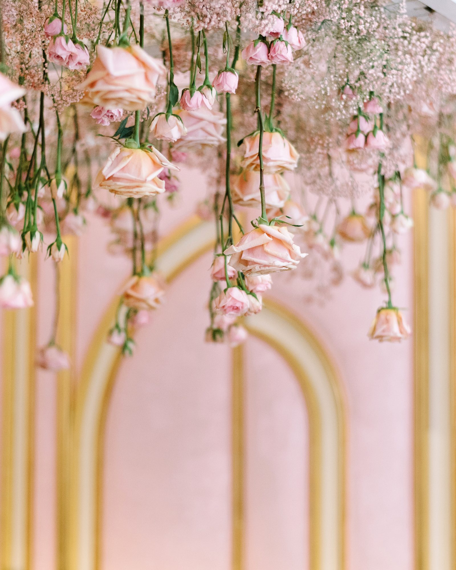 krista will wedding ceremony chuppah flower details