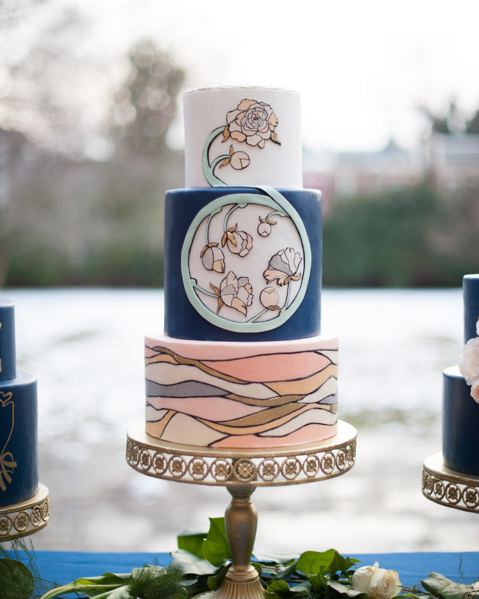 Stained Glass statement tier wedding cake