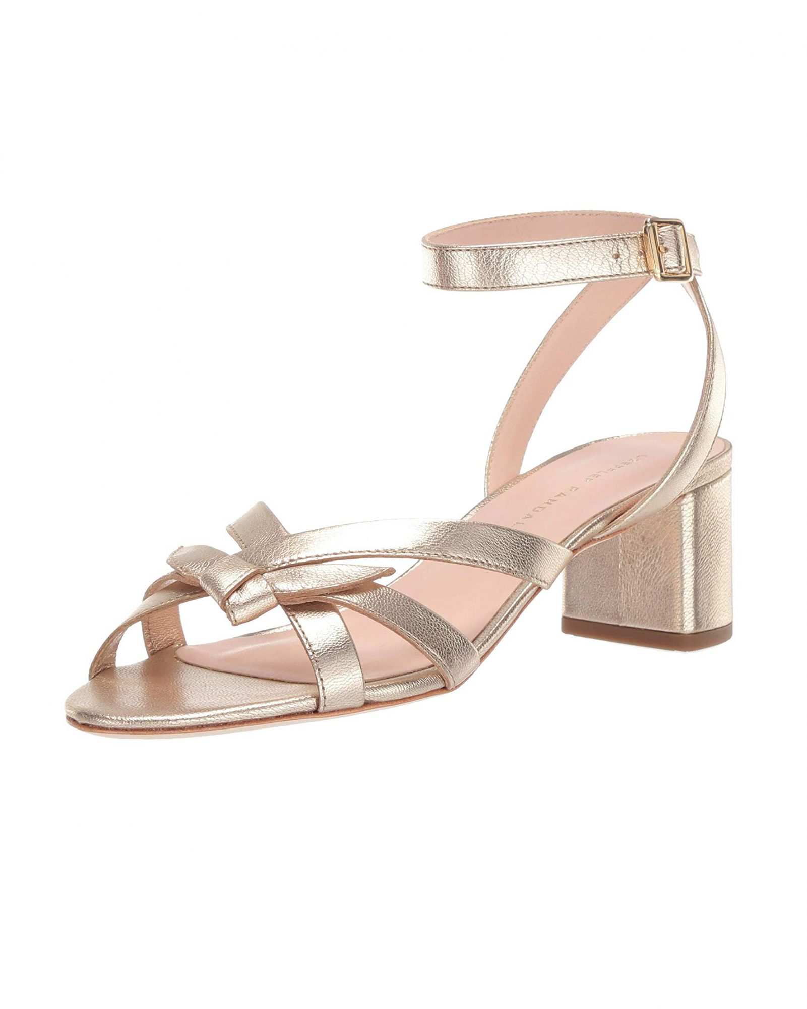 delicate strap mid-heel bridesmaid shoes
