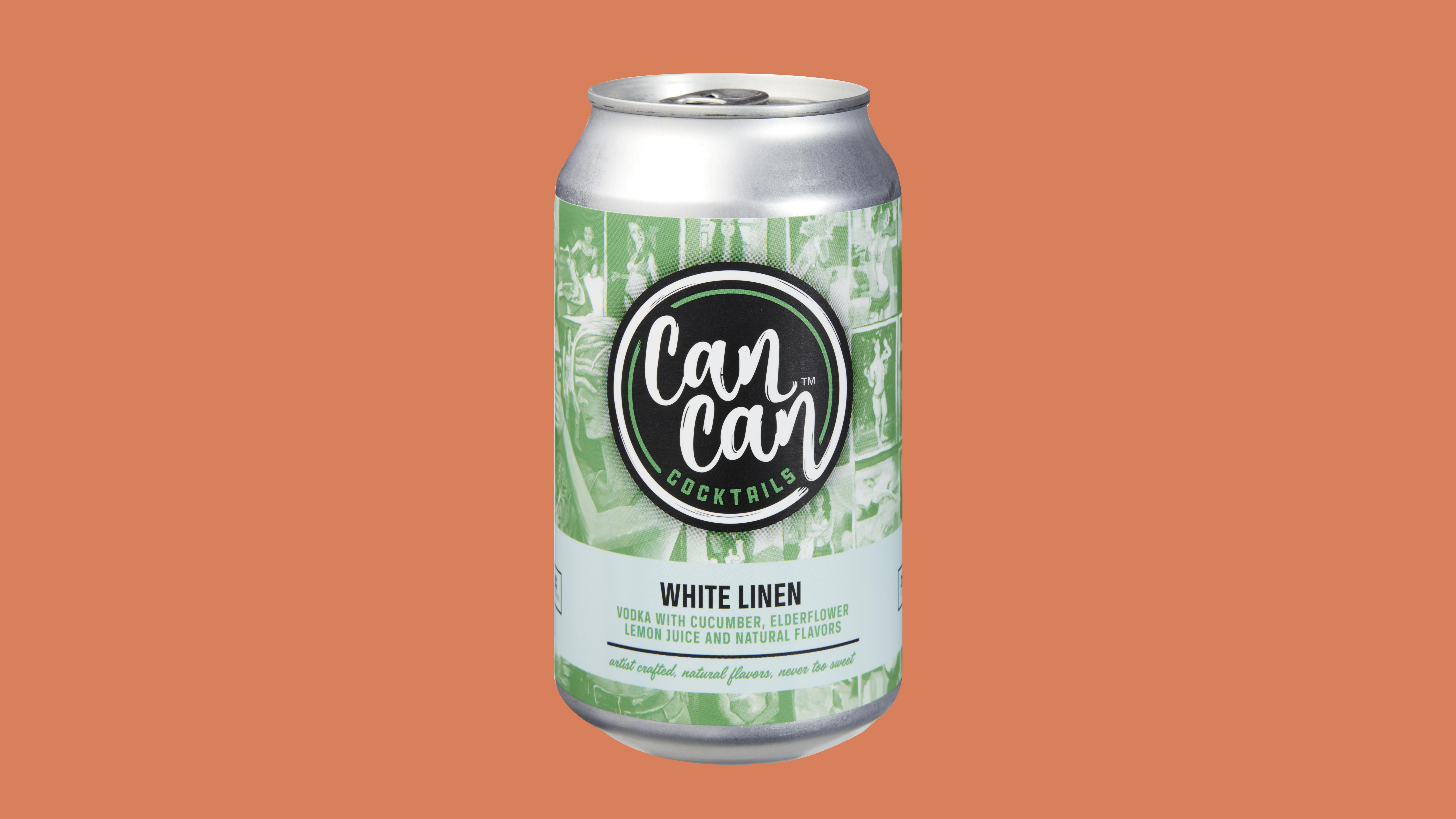 white linen canned cocktail