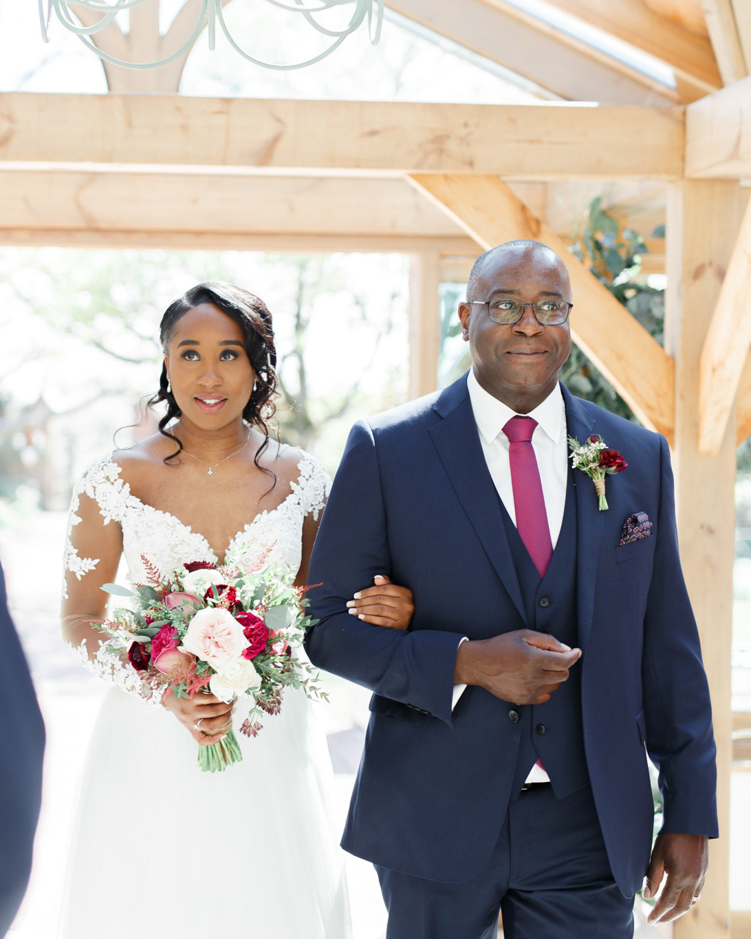 ryan thomas wedding processional bride and father