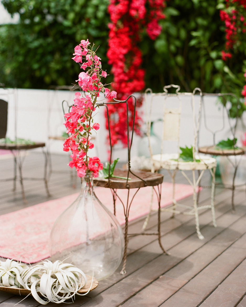 bougainvillea single stalk wedding ceremony space