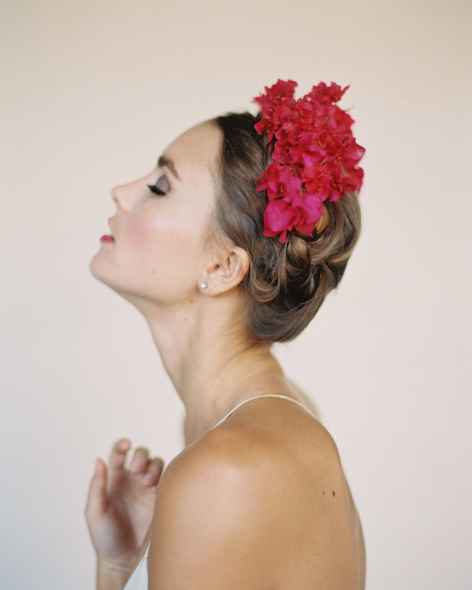 bougainvillea floral wedding headpiece