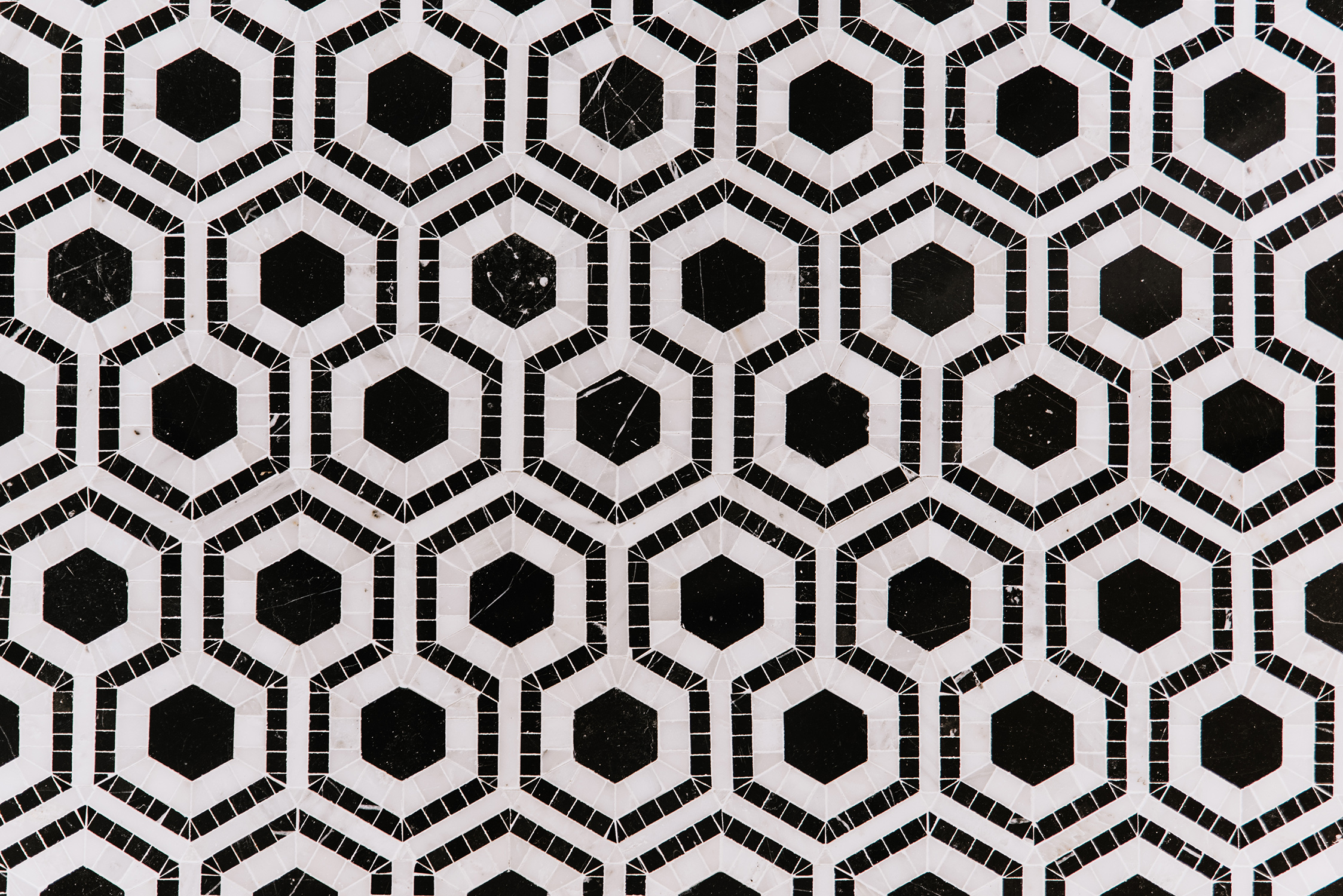 sullivan island house black and white hexagon floor tile