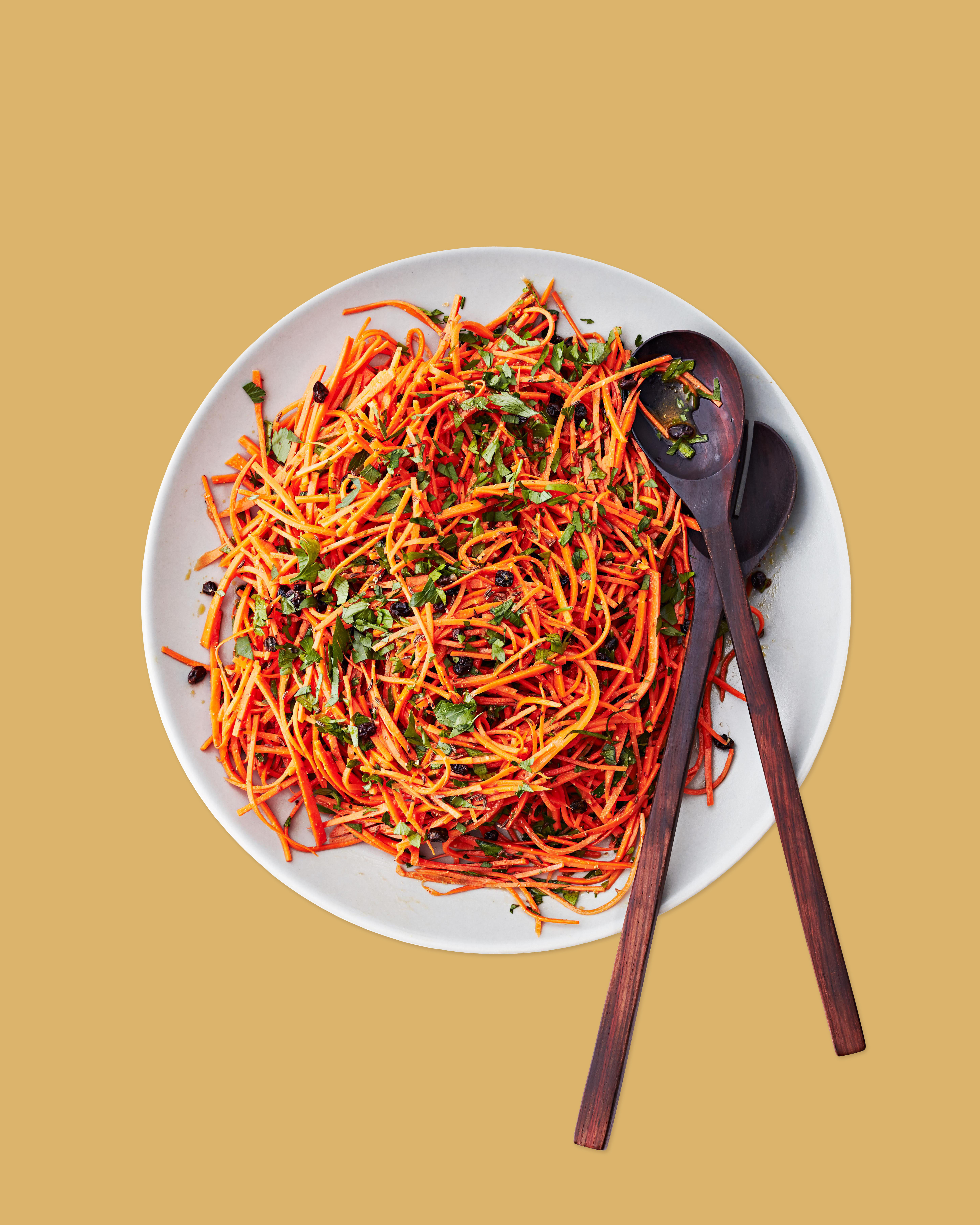carrot slaw with caraway and raisins