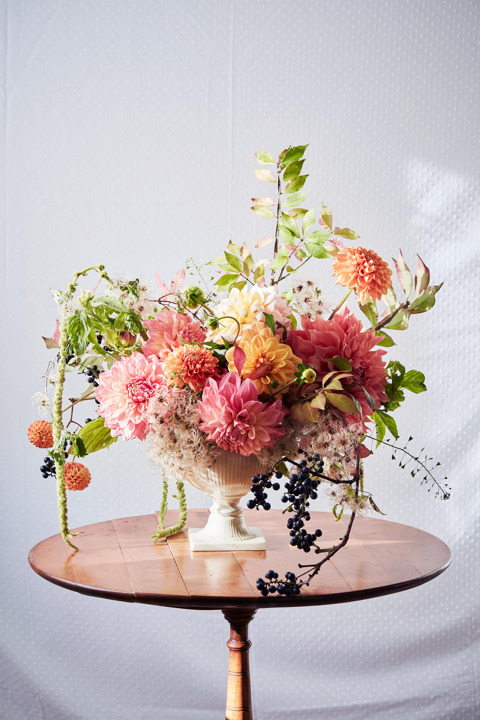 Floral arrangement on a table