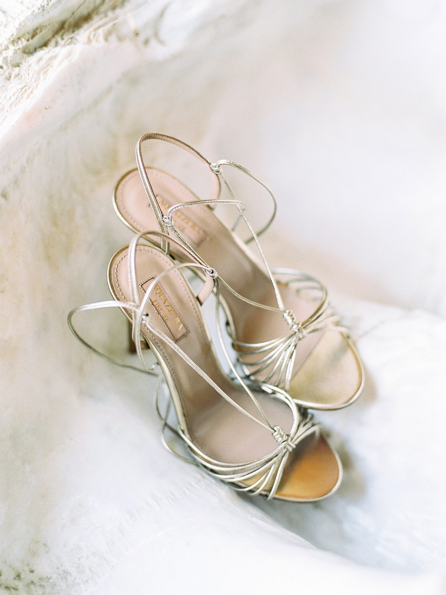 kseniya sadhir wedding italy bride metallic shoes