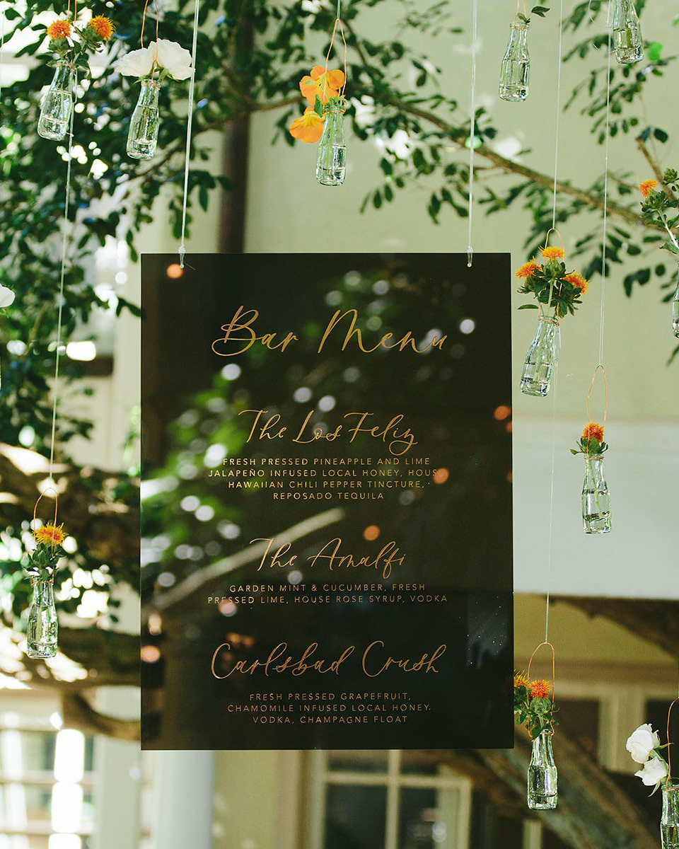 sarah daniel wedding hanging bar sign