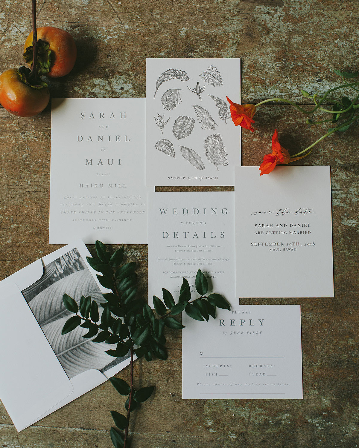 sarah daniel wedding invitations