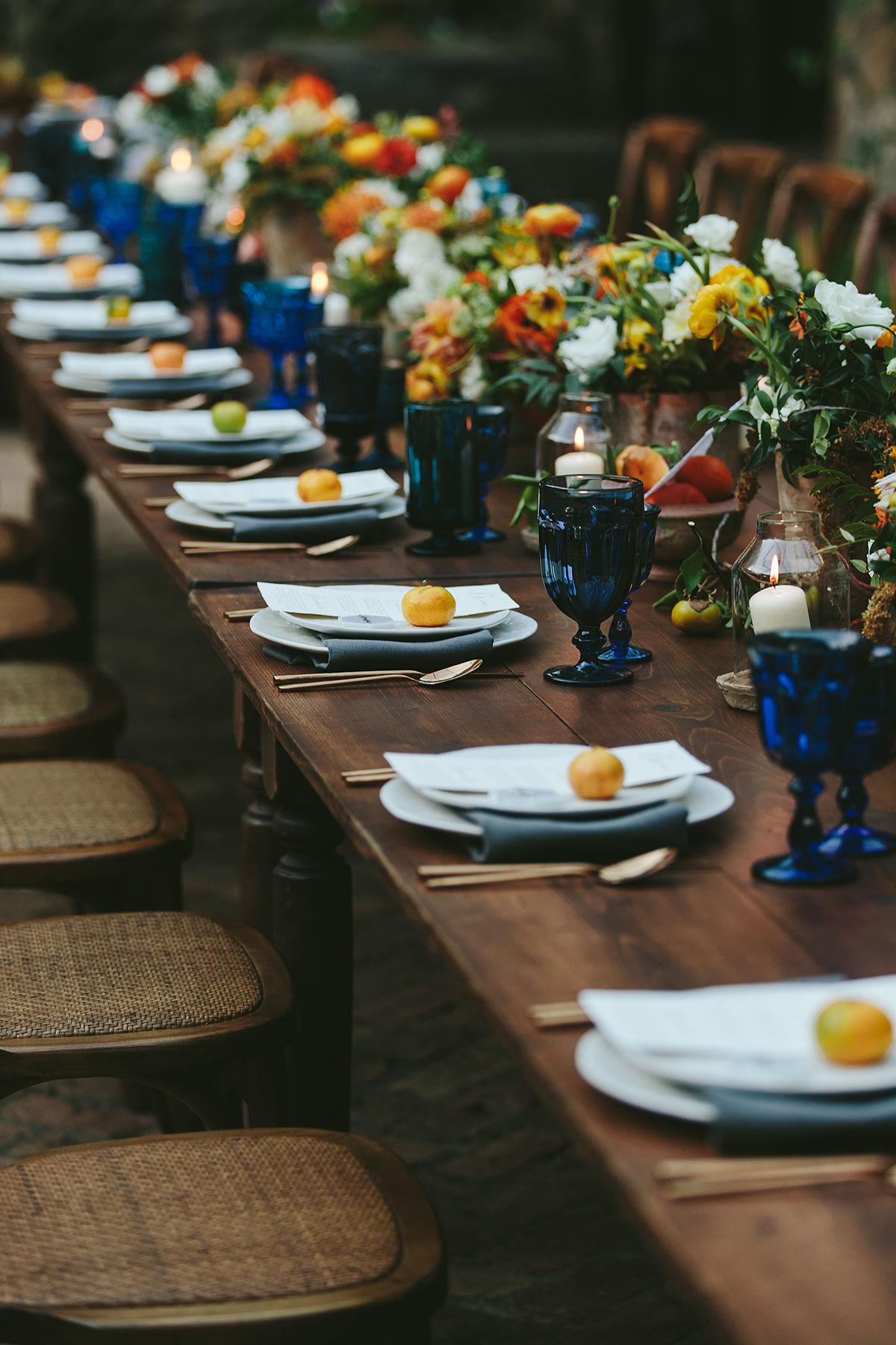 sarah daniel wedding reception long table