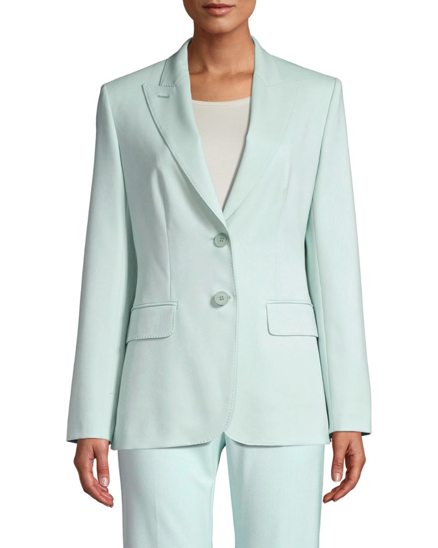 Wool Two-Button Suit Jacket