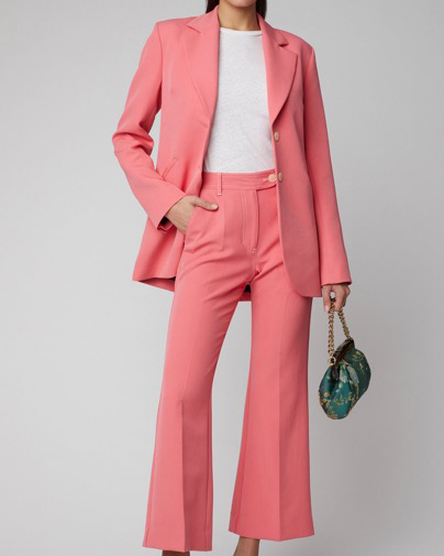 Crepe Blazer and Cropped Pants