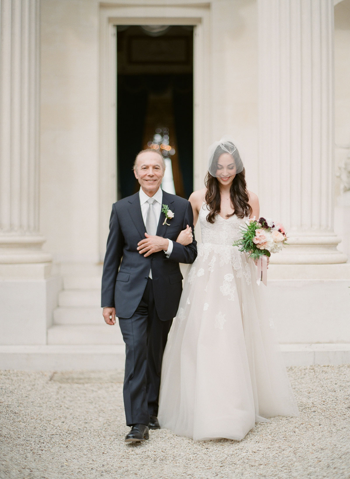 bride and father-of-the bride