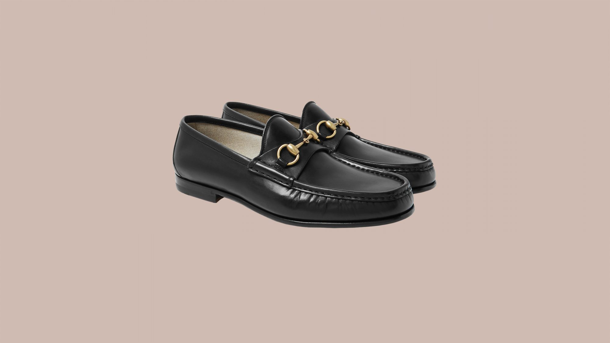 """Gucci """"Roos"""" Horsebit Leather Loafers"""