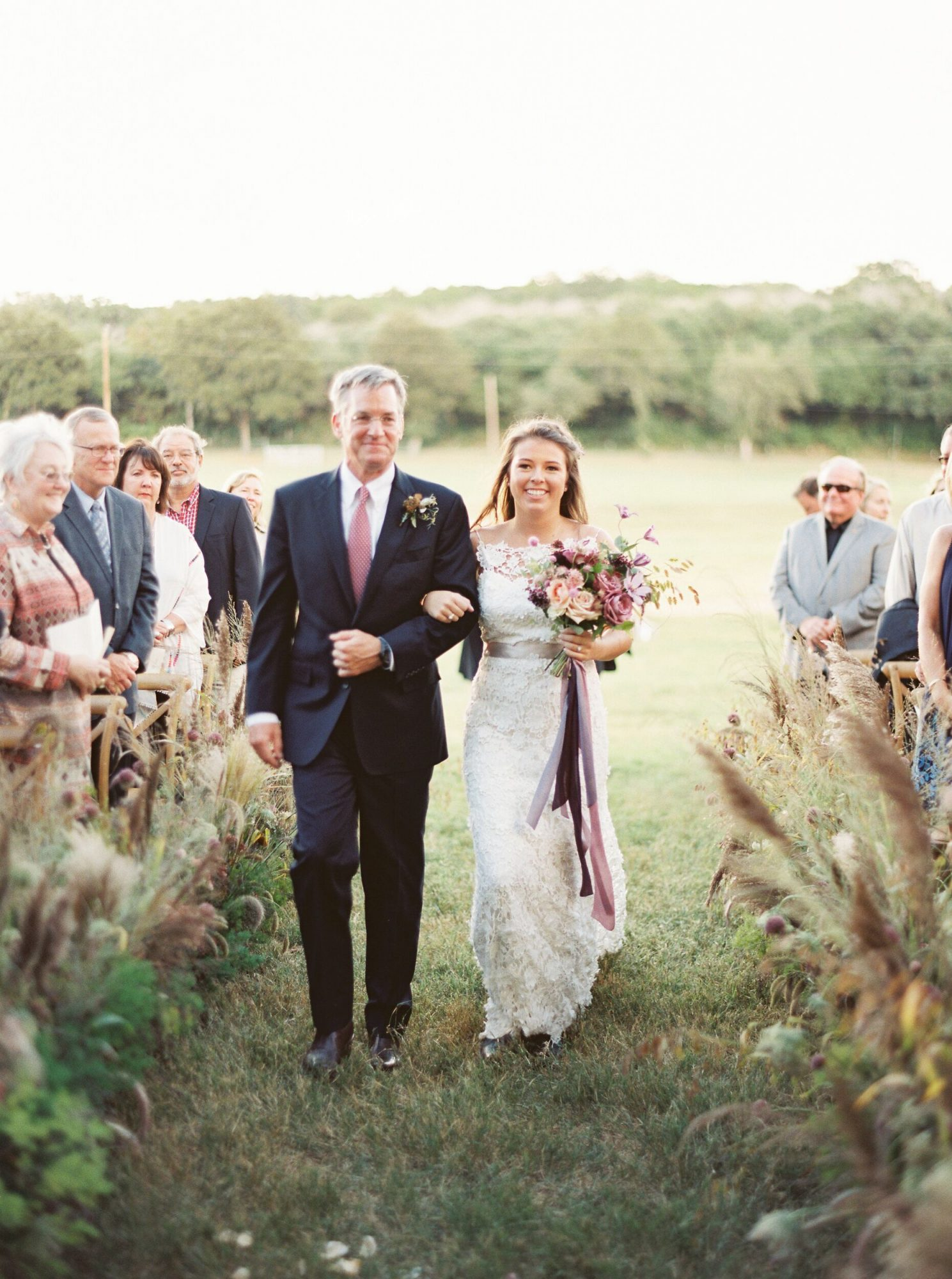 kelsey jacob wedding processional bride and father