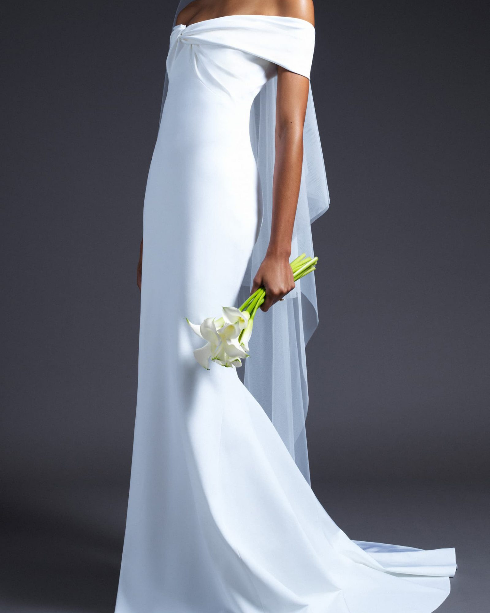 Cushnie Knotted Off-the-Shoulder Wedding Dress