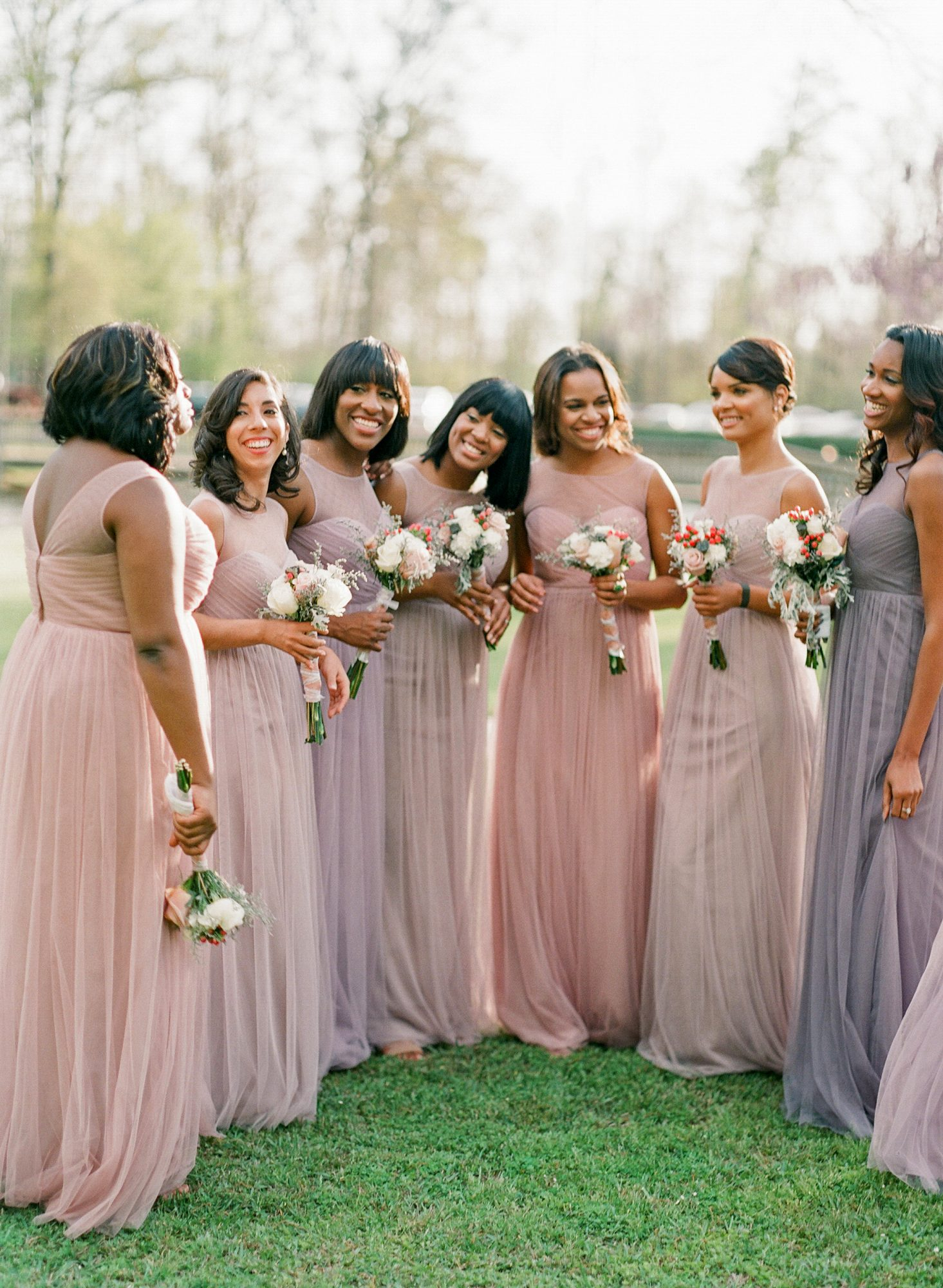 mismatched bridesmaids dresses ashley upchurch
