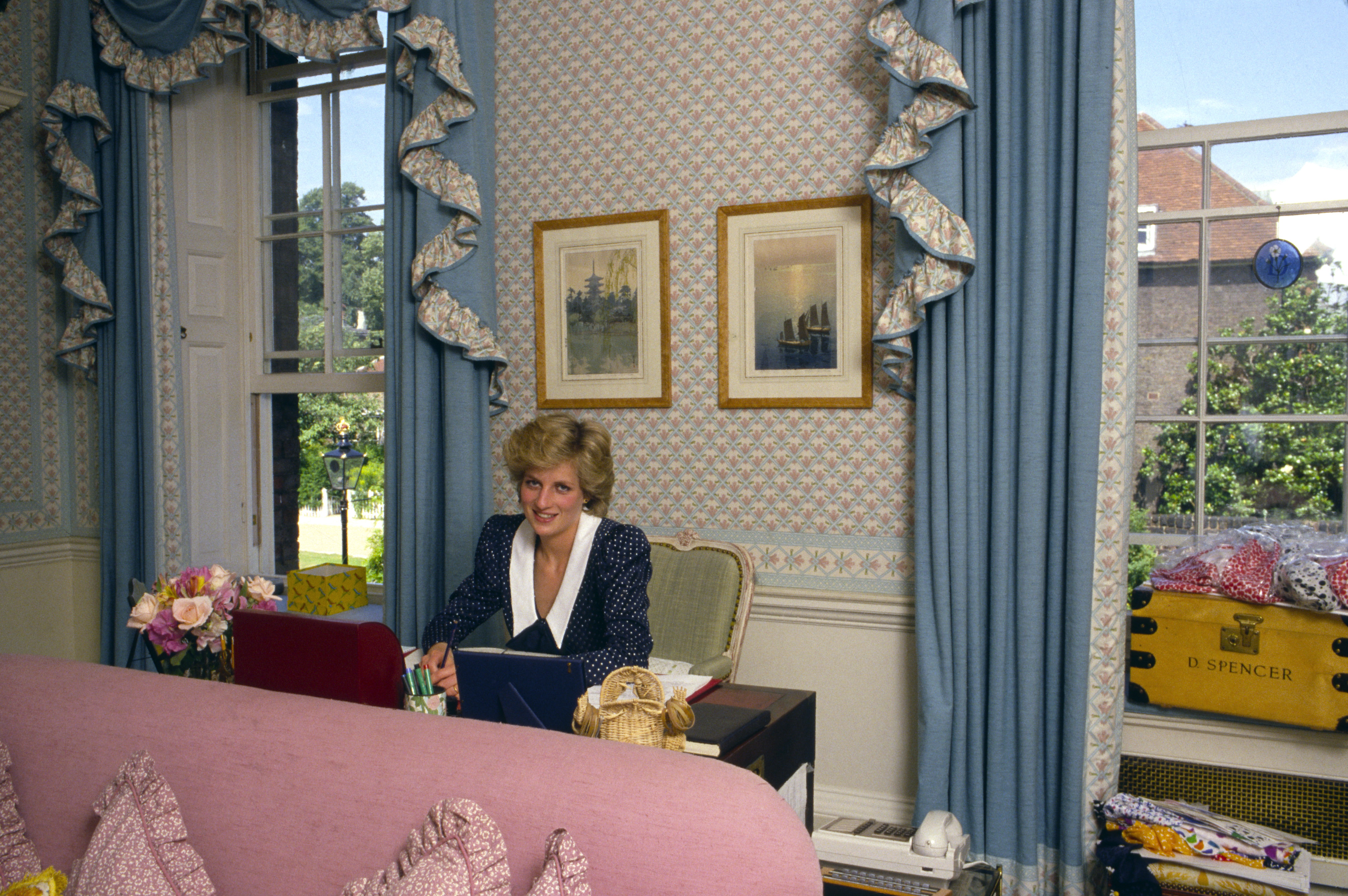 Princess Diana in Her Sitting Room