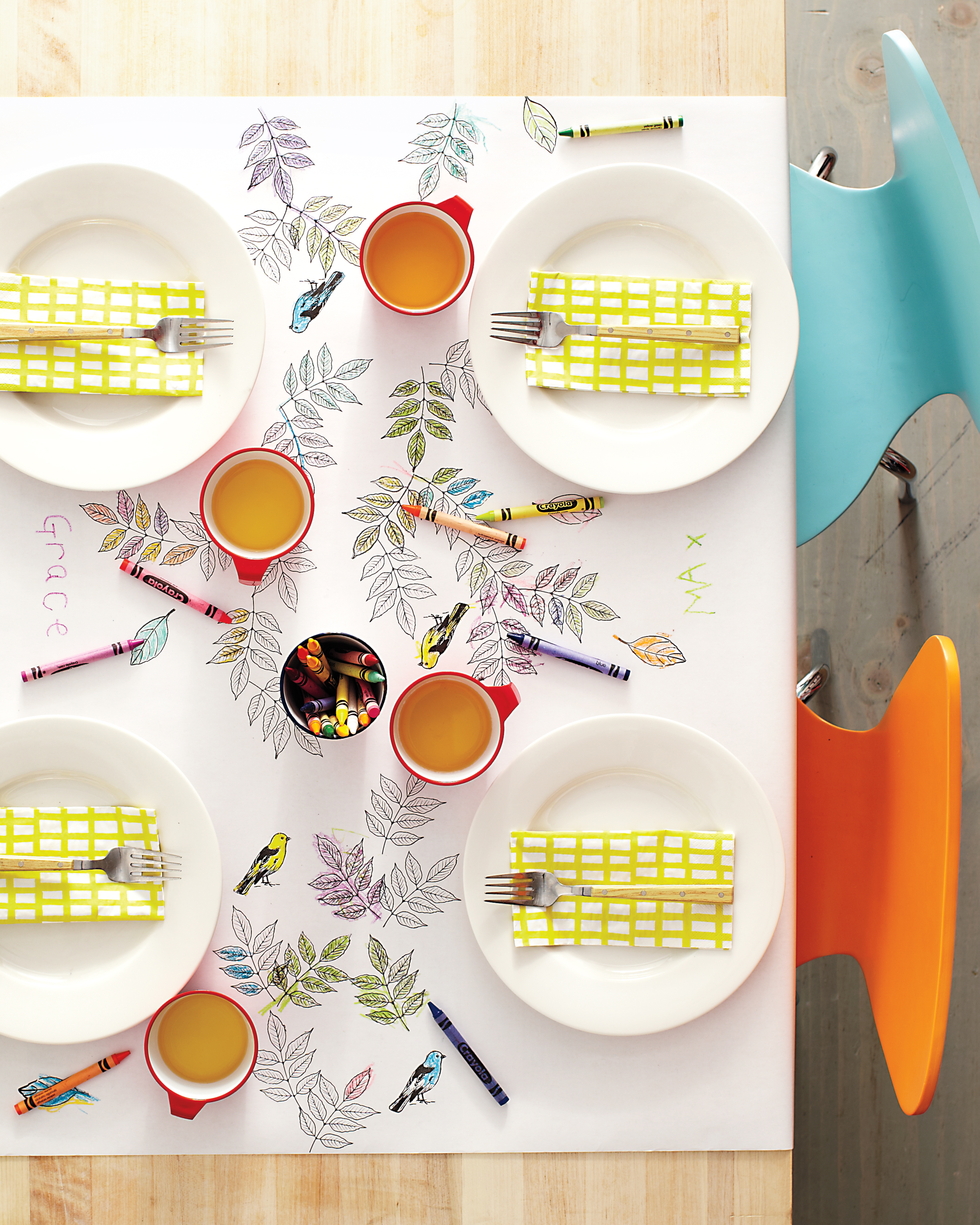 Colorful Kids' Table Runner Idea