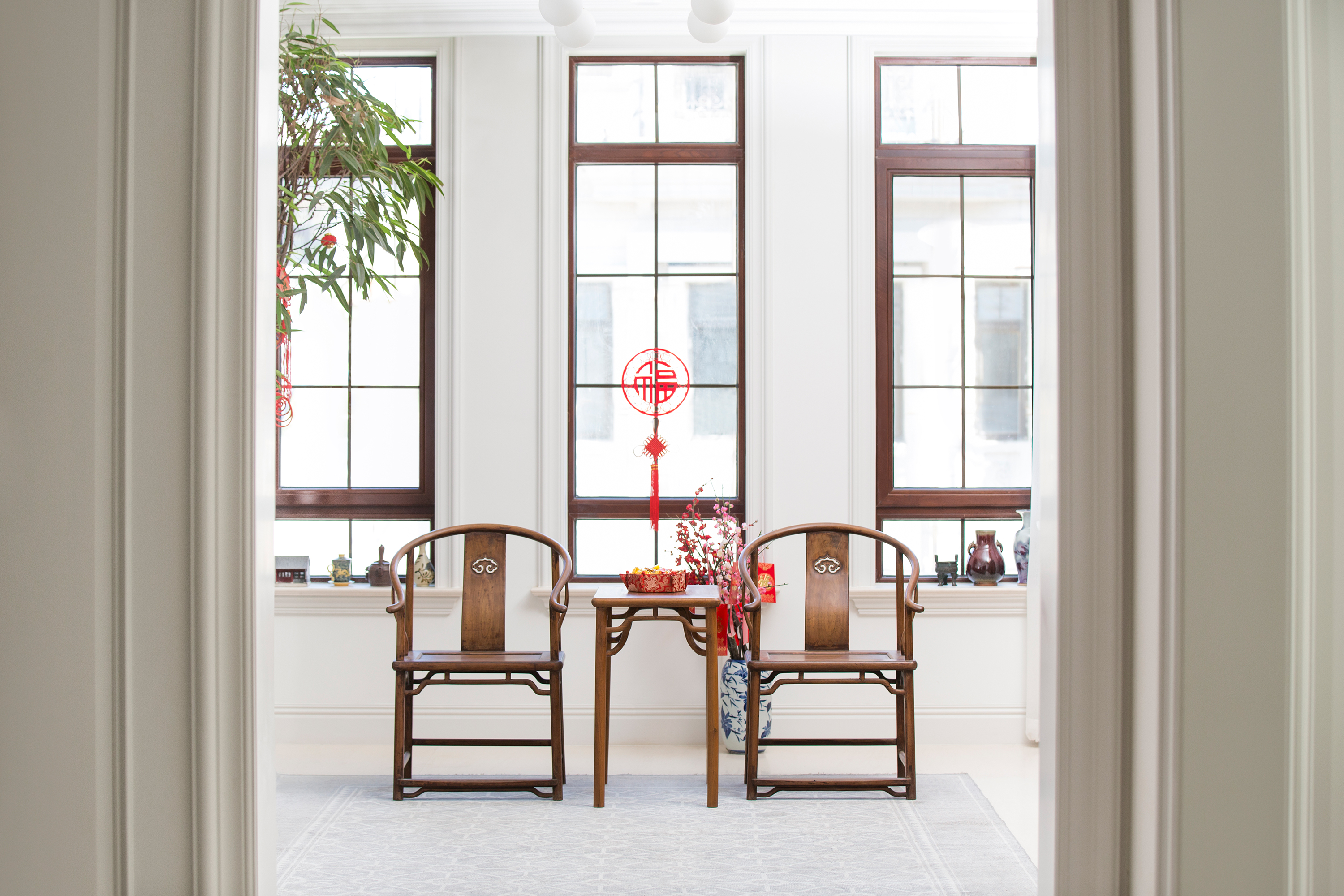Classic Villa with Chinese Lunar New Year Decorations