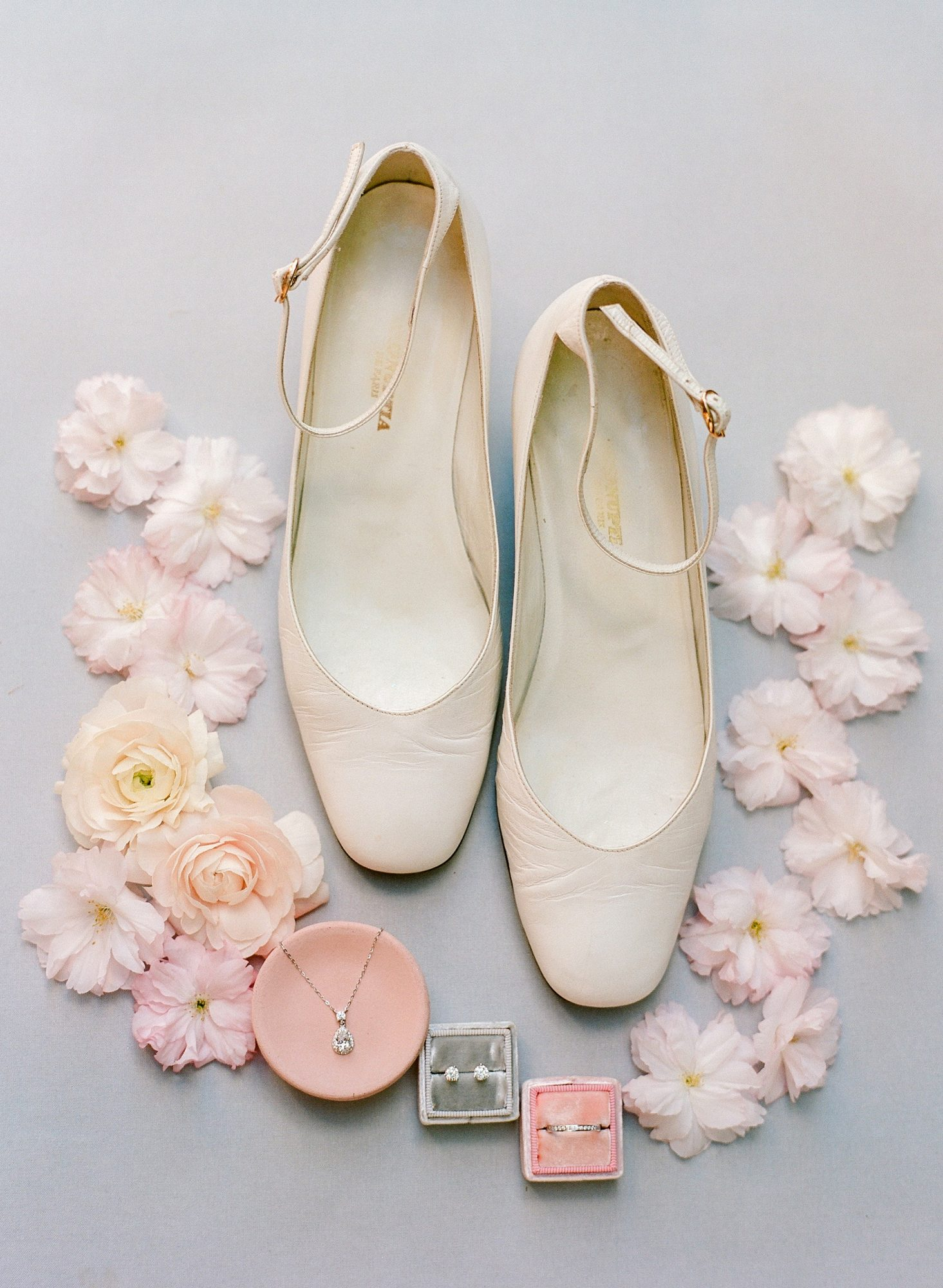mechelle julia wedding nude shoes and jewelry