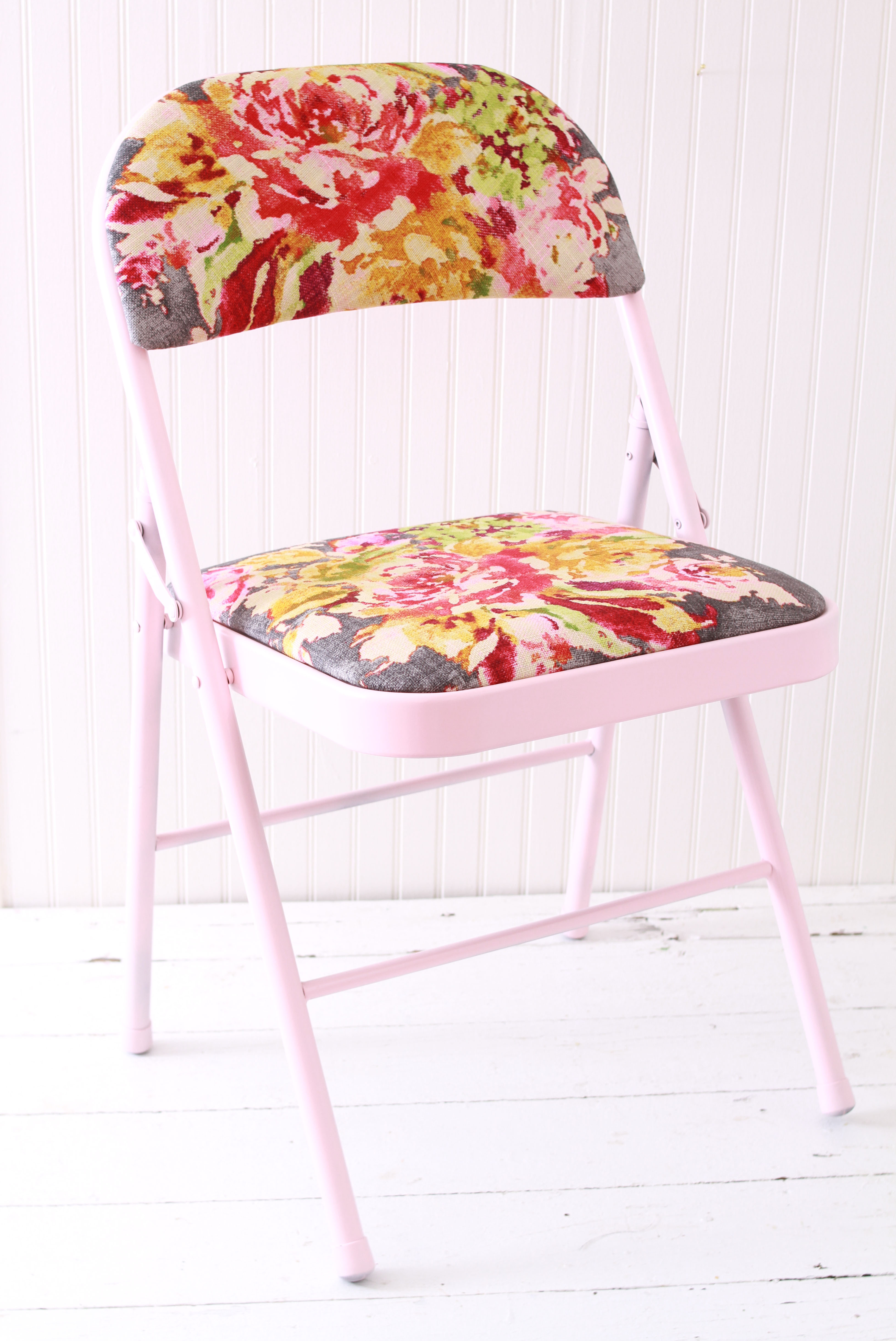 reupholstered folding chair