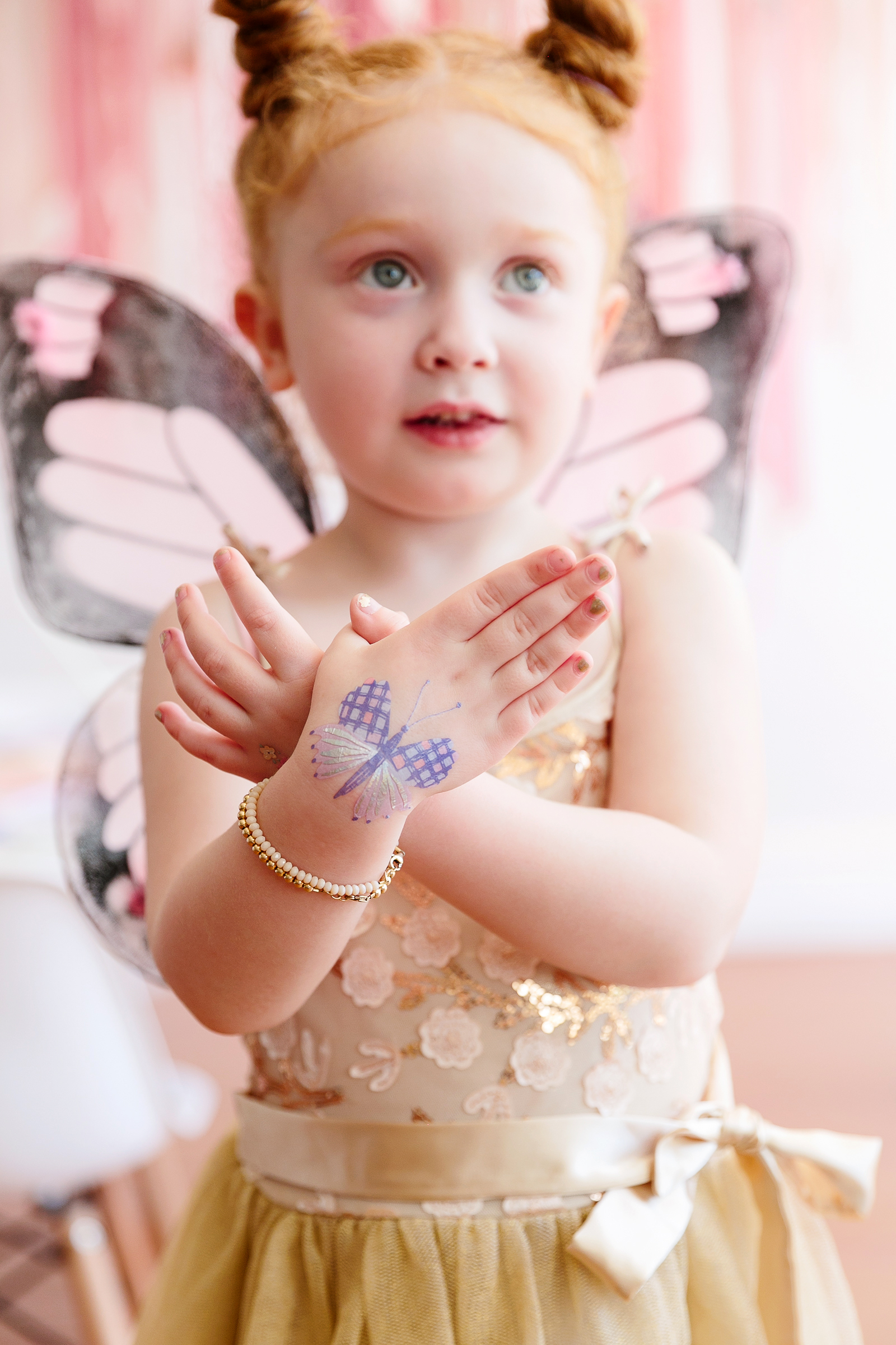 butterfly party little girl butterfly temporary tattoos on hands