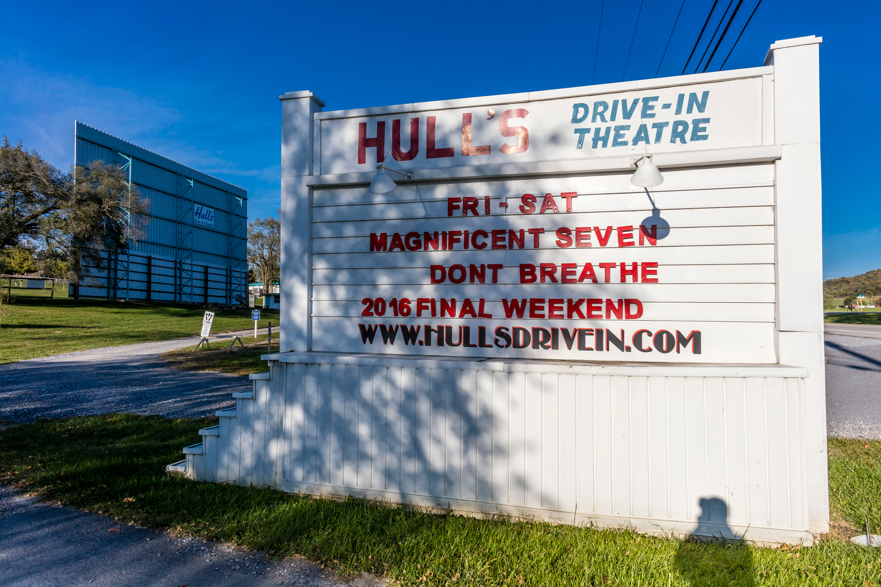 One of seven drive-in theaters left in Virginia, this theater originally opened in 1950 with room for 300 cars. In 1957, it was sold and renamed the Hull's Drive-In—it operated in stride up until 1998, when it had to shut its gates. But in 2001, a community-led group of organizers raised enough funds to purchase the drive-in outright, reopening it to the public; it's America's only non-profit community-owned drive-in today.