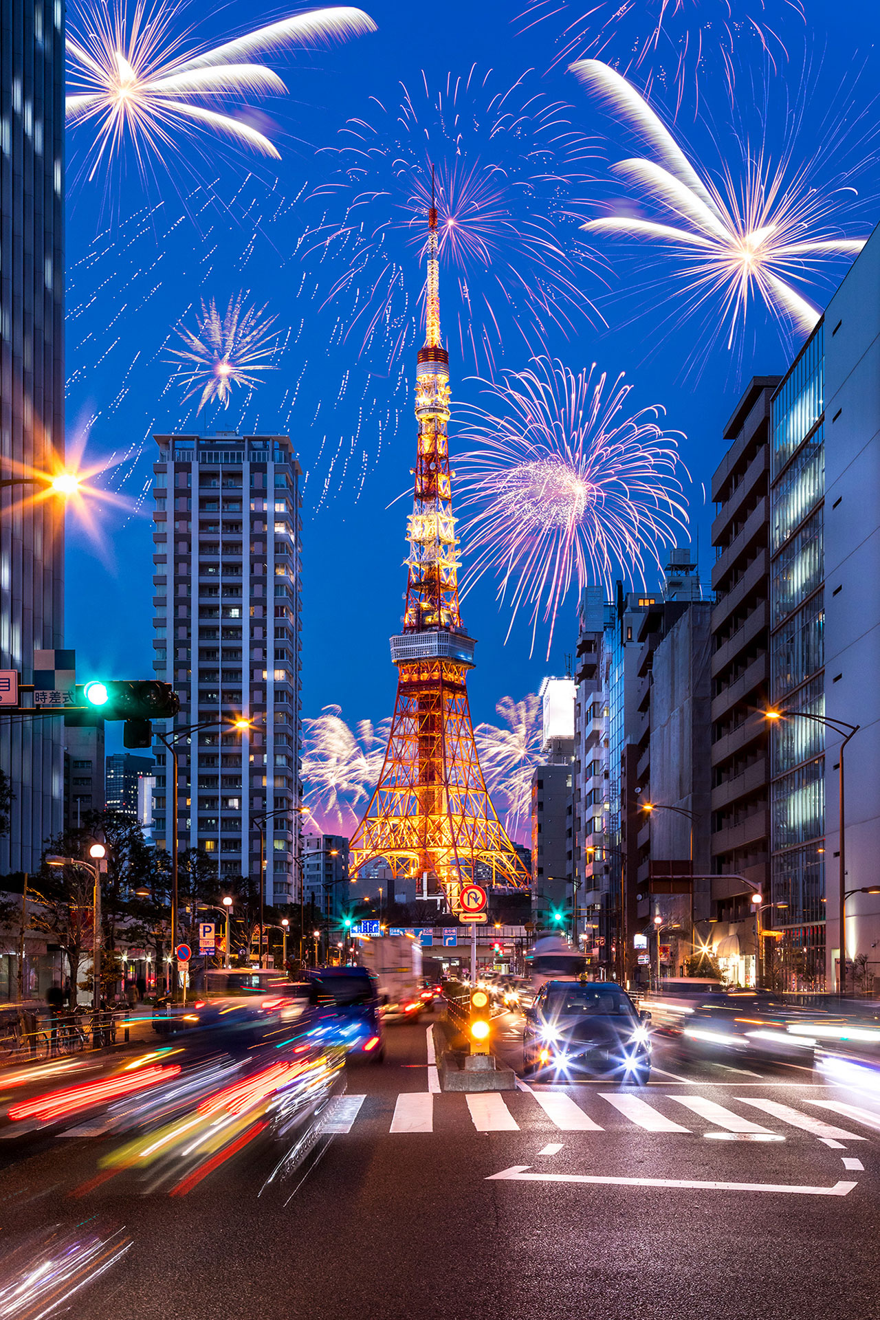 tokyo japan new years fireworks