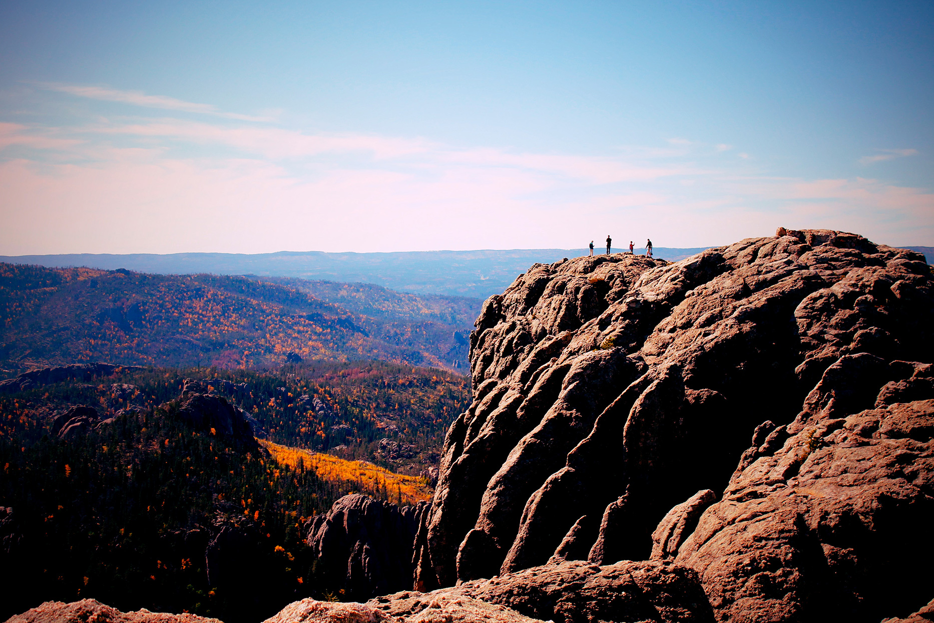 harney peak black hills south dakota fall colors