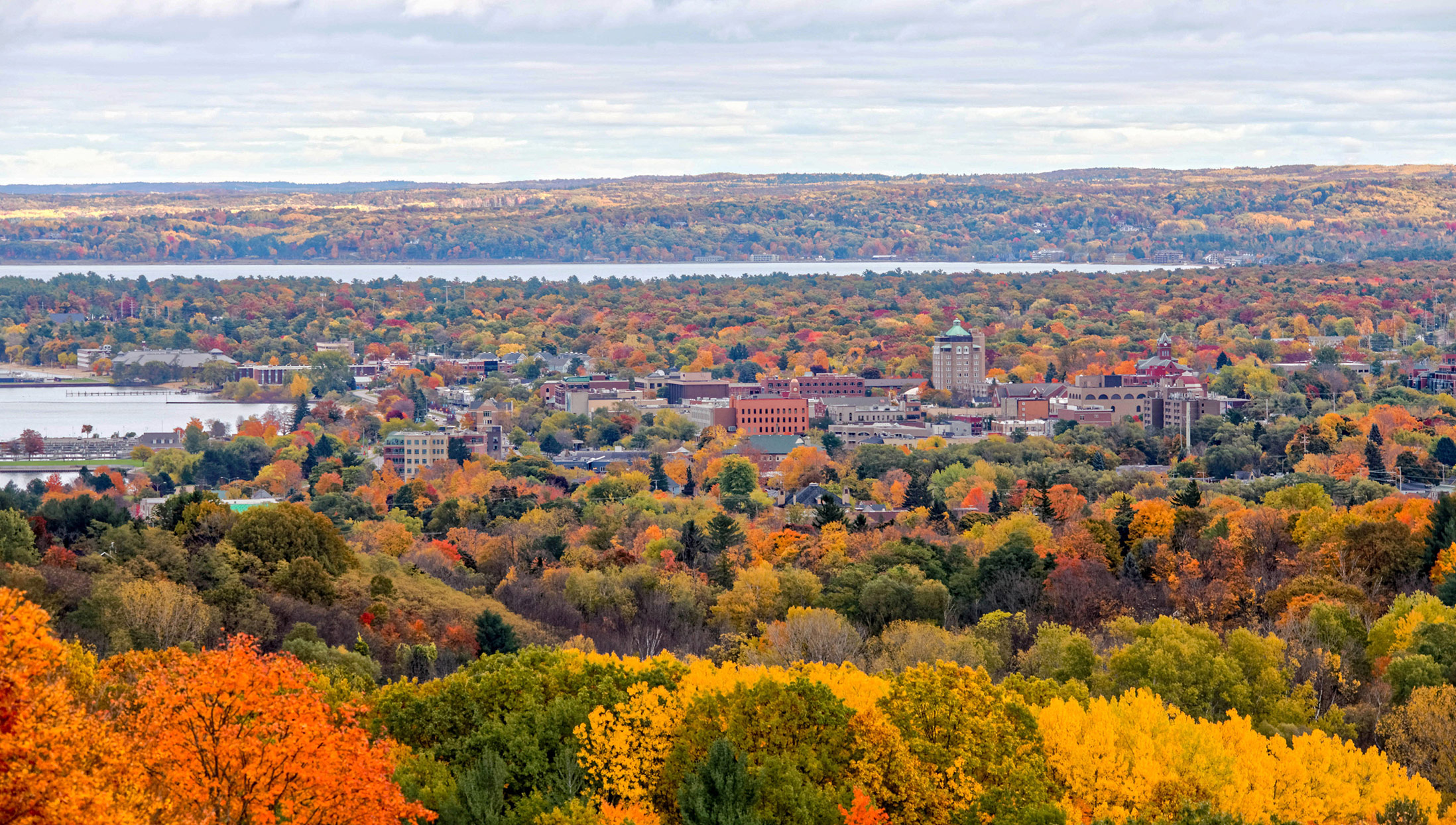 Traverse City Michigan in Autumn
