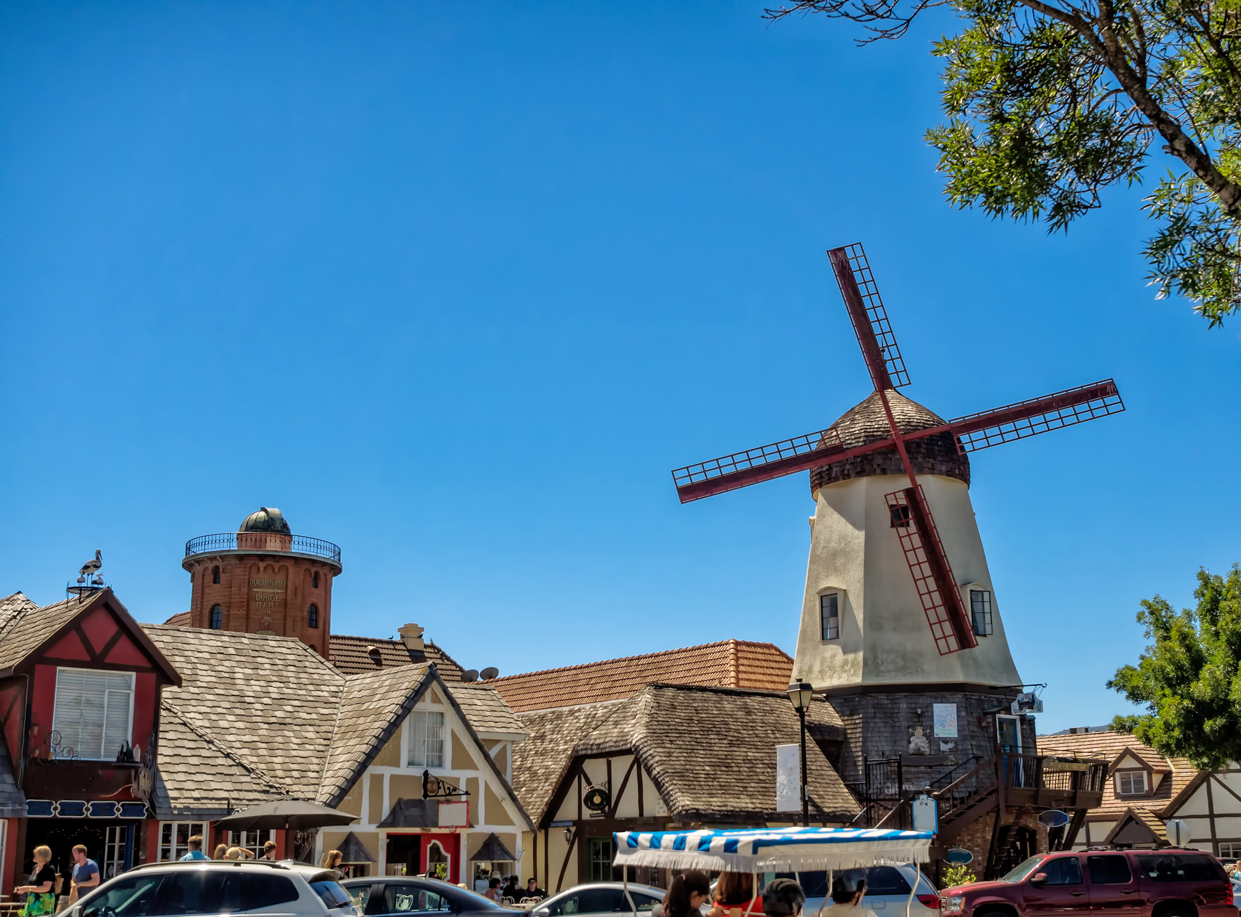 Danish shops and windmill