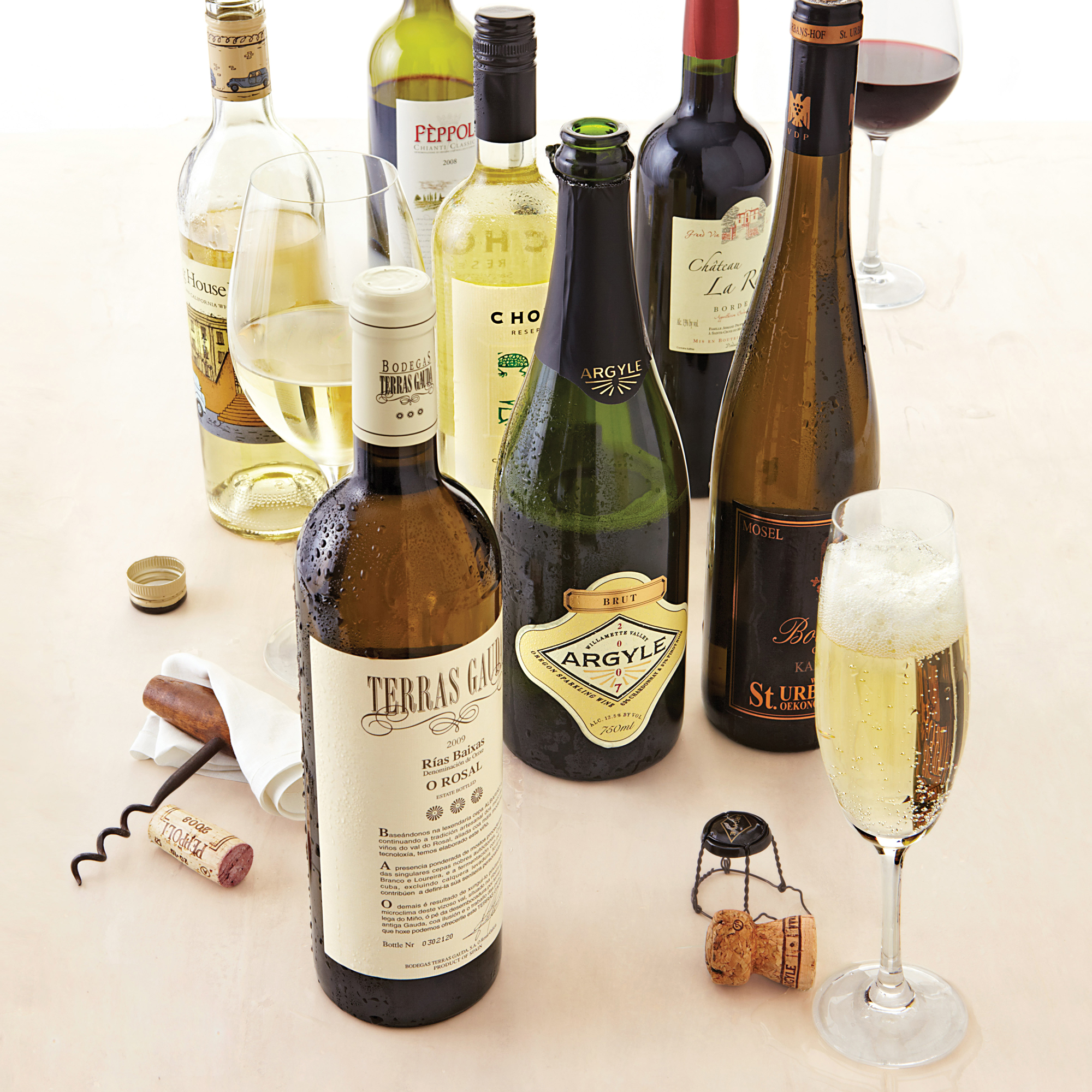 selection of wine bottles