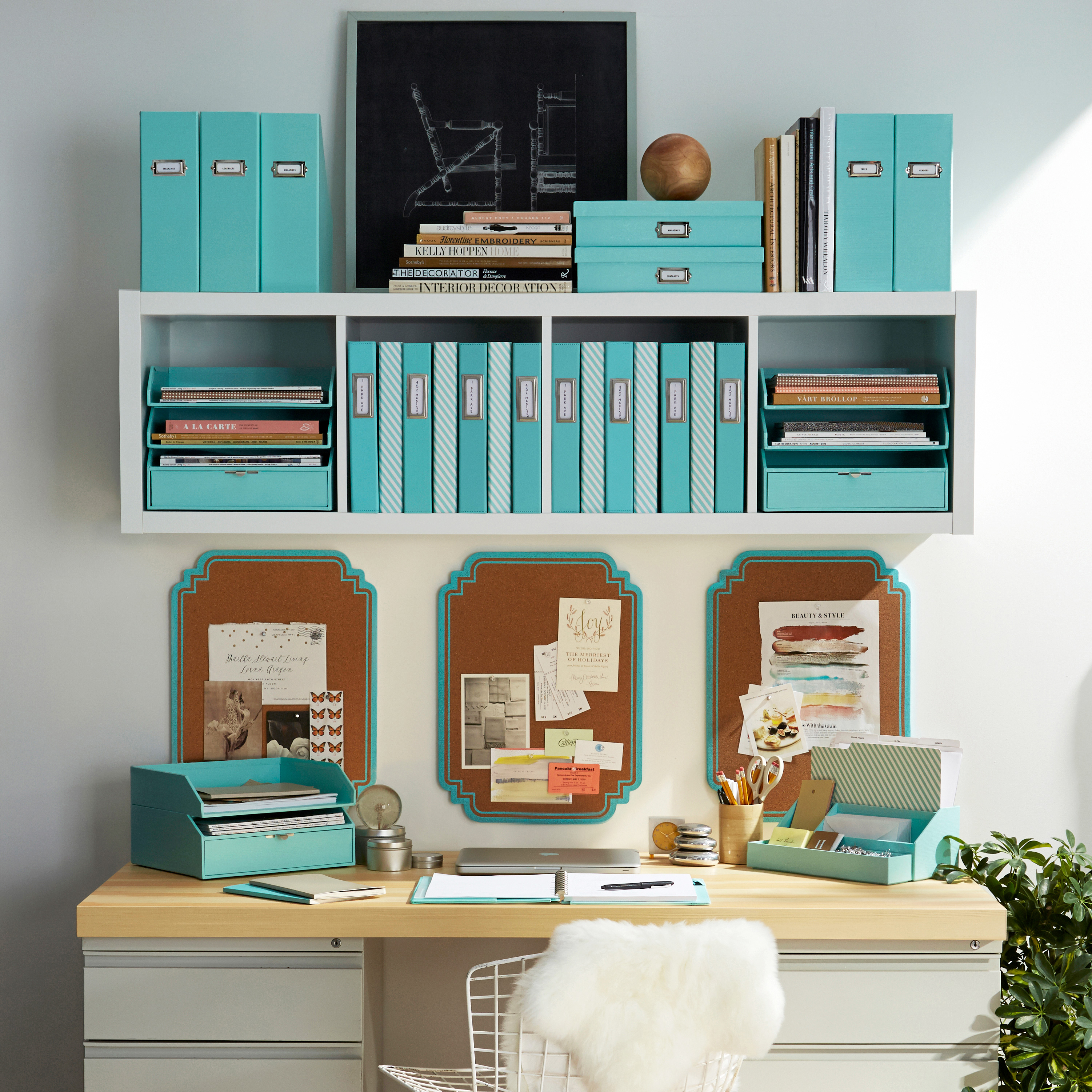 Get ready for the piles of class syllabi, homework assignments, and grade reports with smart storage solutions. Martha's Stack+Fit collection at Staples features file sorters, document boxes, and desktop inboxes that can be securely stacked and positioned without falling over.Office by Martha Stewart Stack + Fit Collection, prices vary, staples.com.