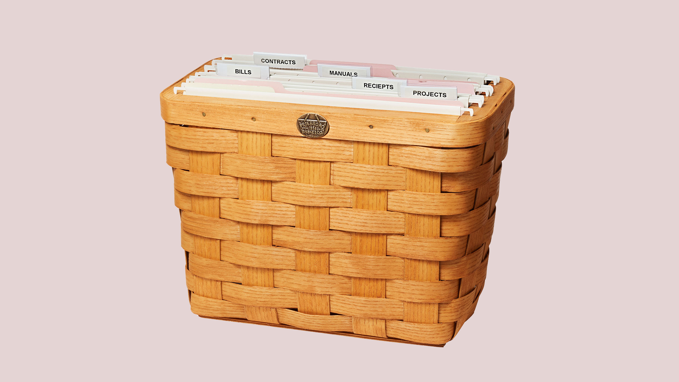 wicker file box