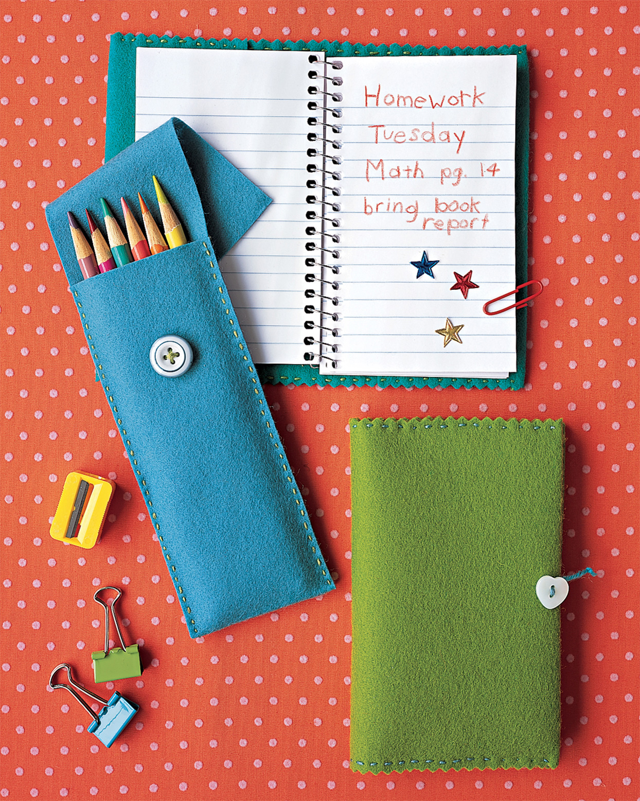 felt pencil case and notebook cover