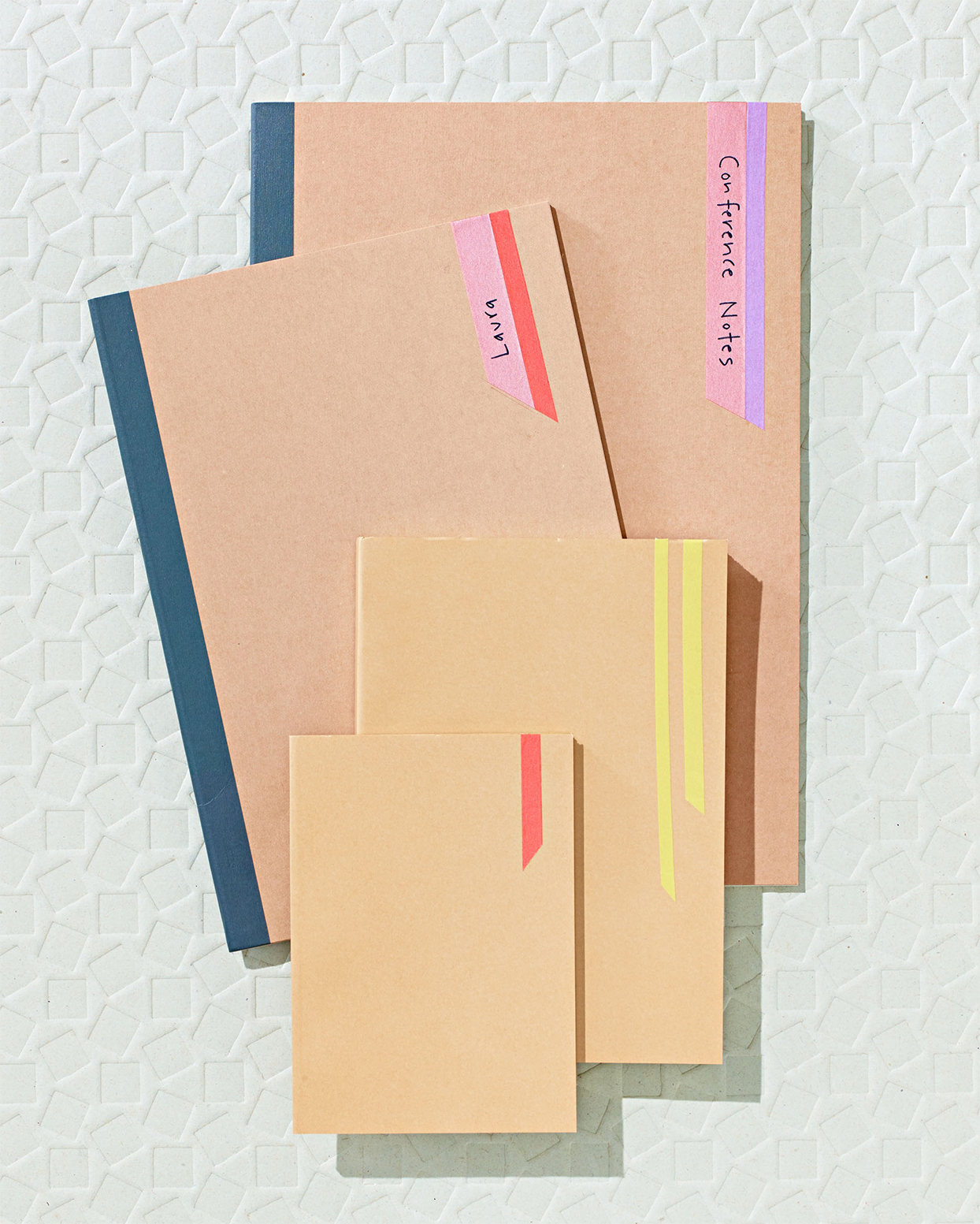 tan color-coded folders