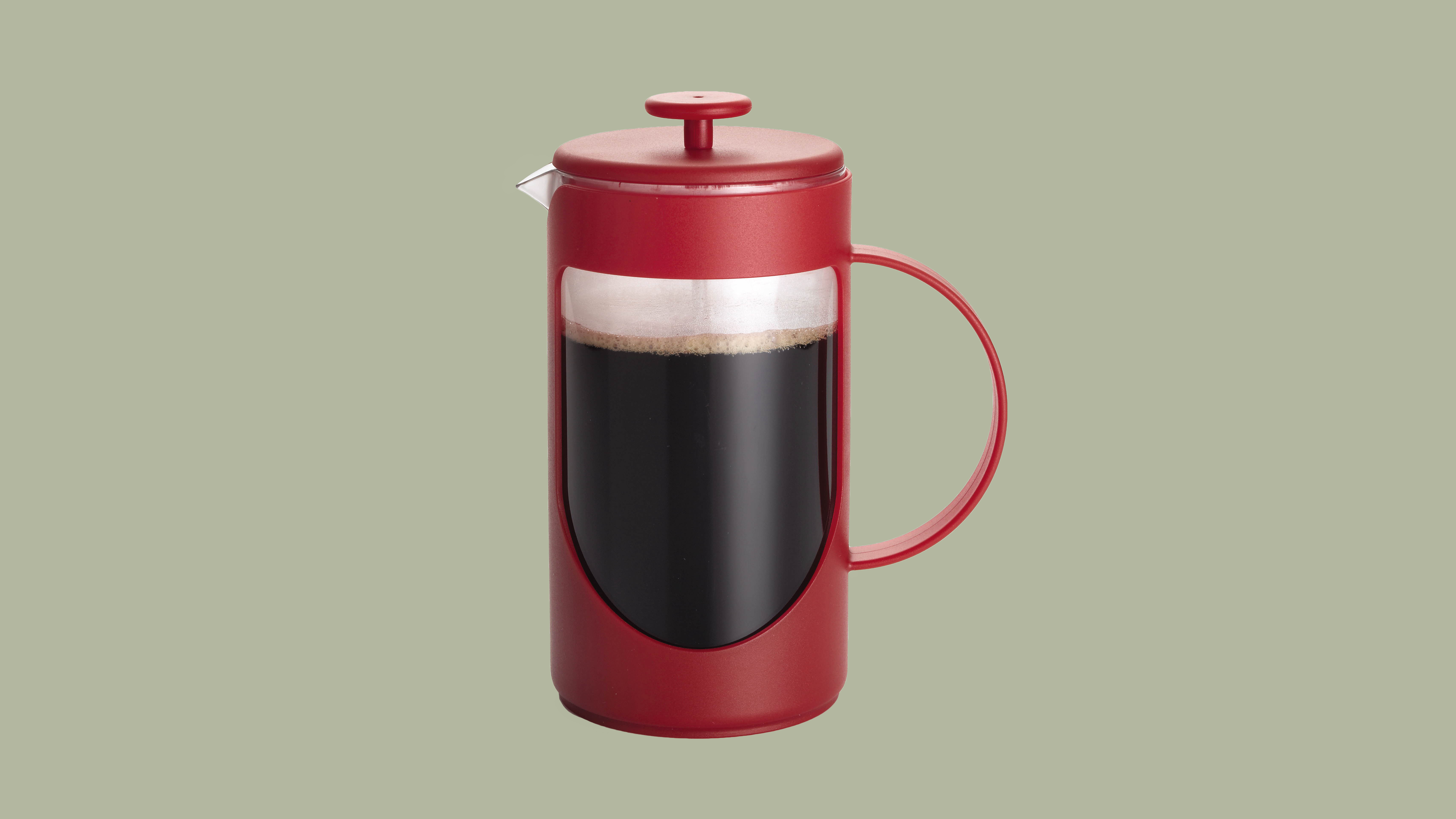 red bonjour ami french press