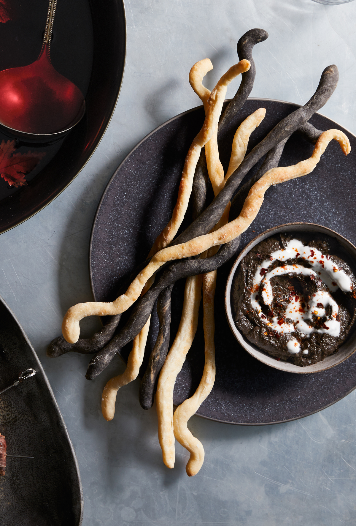 Black-Tahini and Eggplant Dip