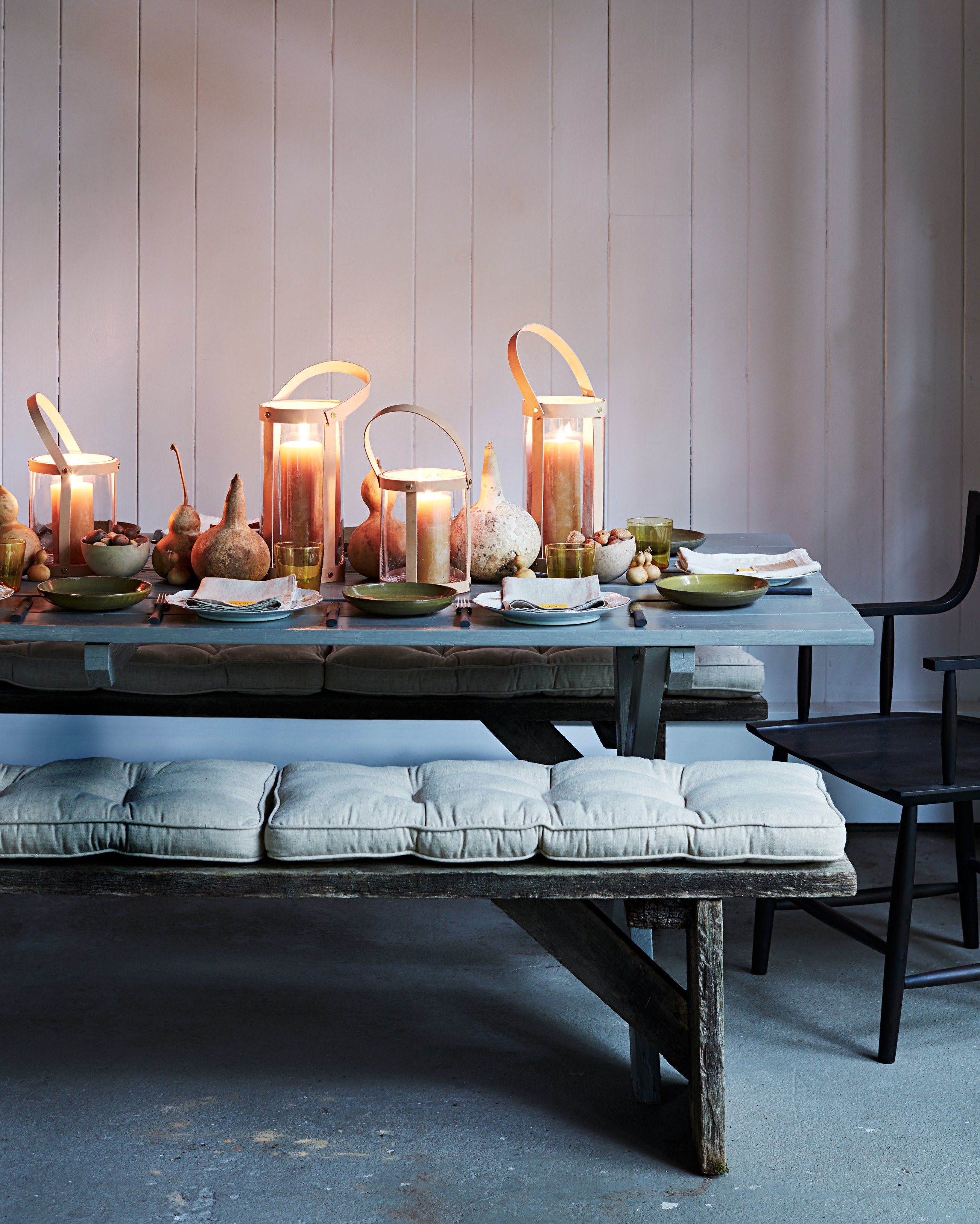 Cozy Rustic Table Setting